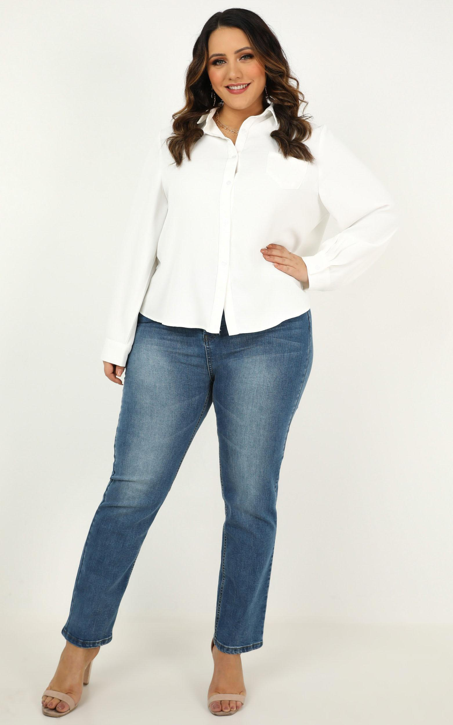 Back In The Spotlight Top In white - 18 (XXXL), White, hi-res image number null