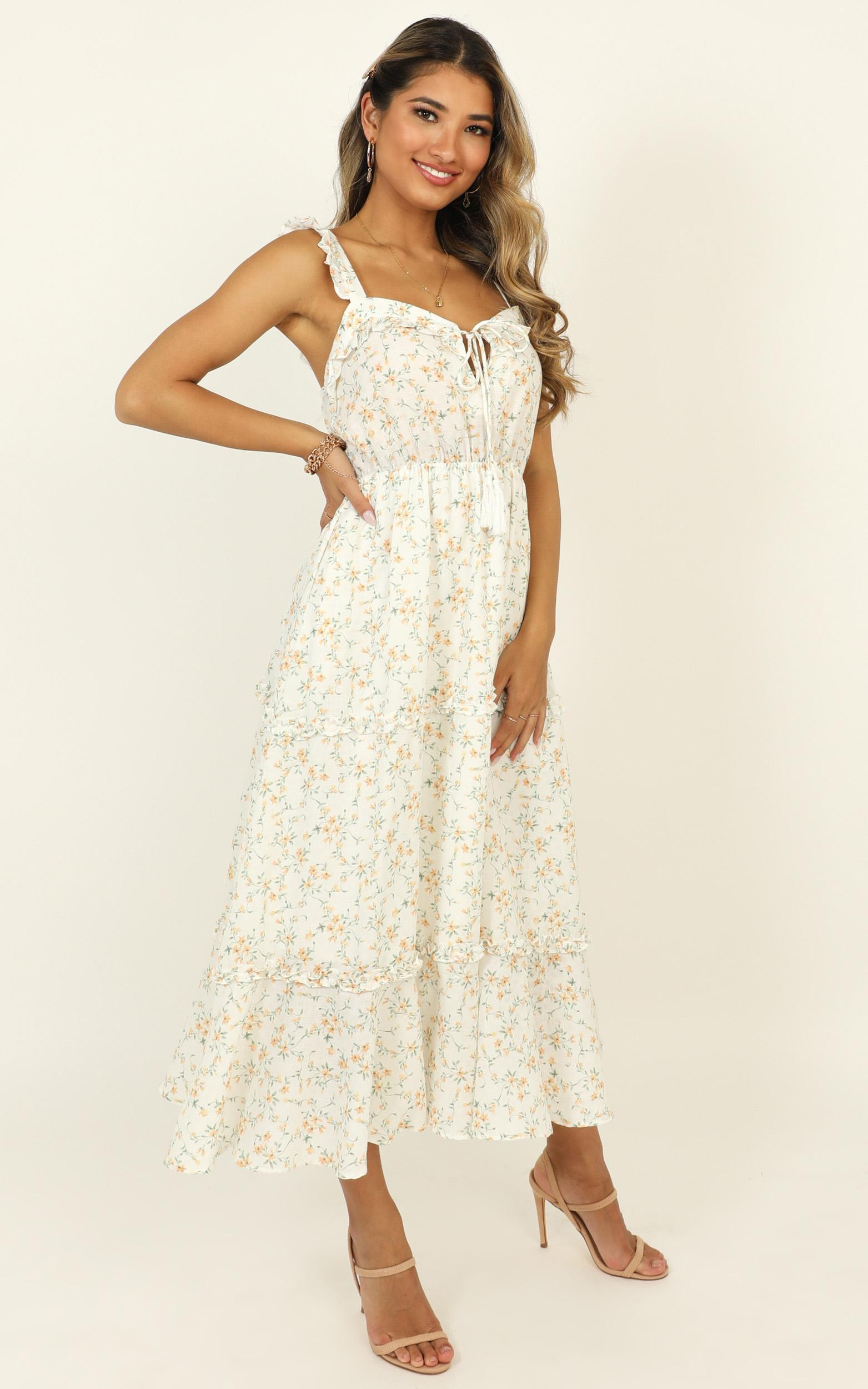 Peace And Quiet dress in white floral - 12 (L), White, hi-res image number null