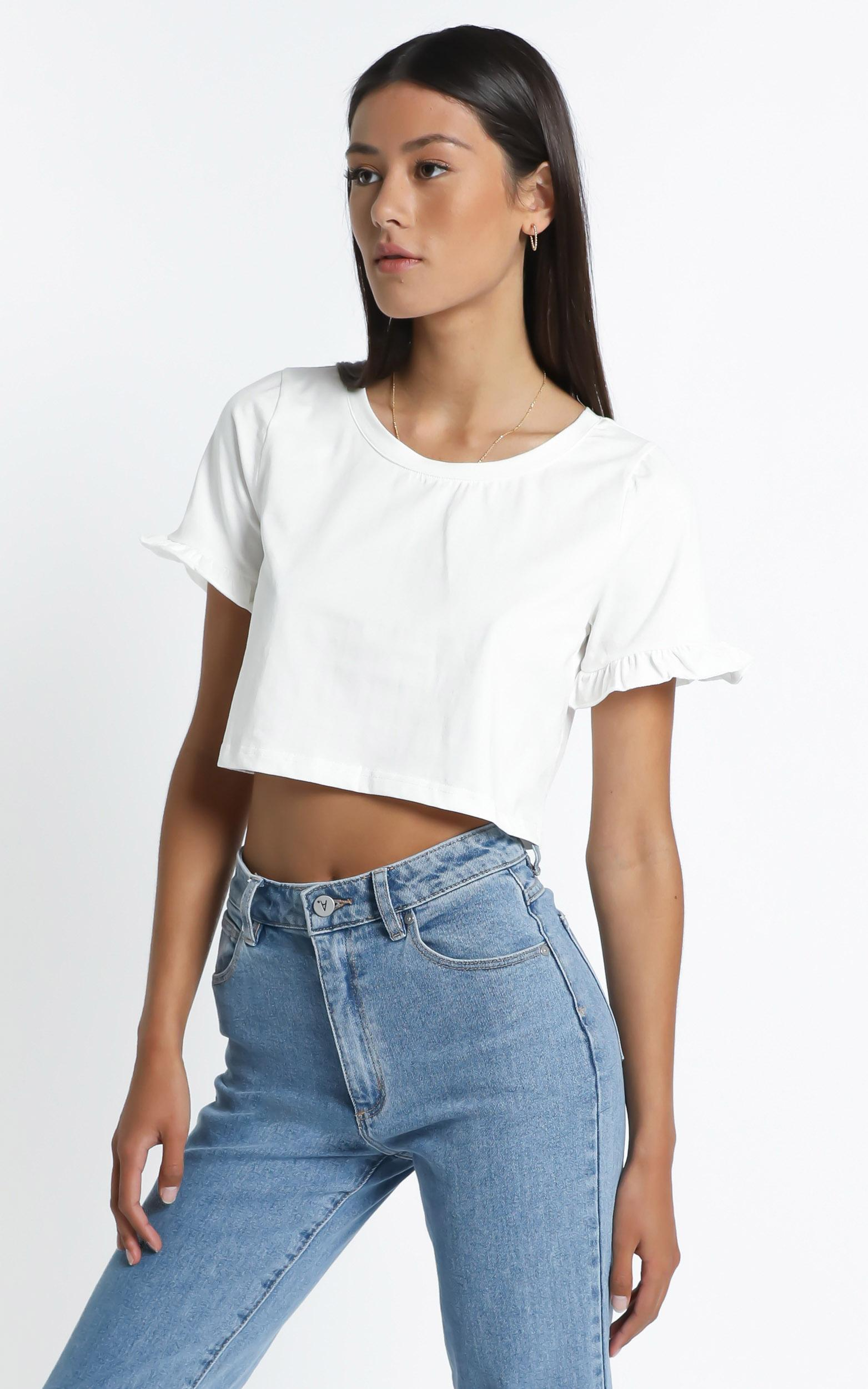 Manhattan Top in White - 6 (XS), White, hi-res image number null