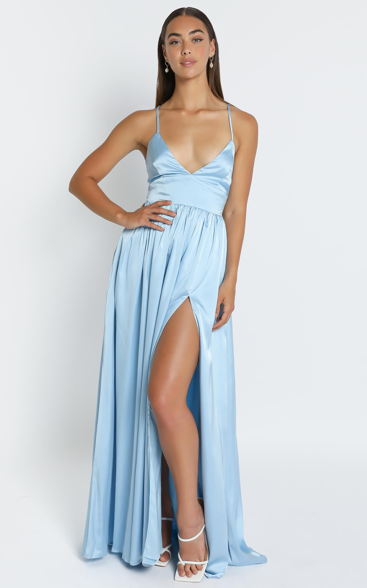 I Want The World To Know Dress In Light Blue - 6 (XS), BLU15, hi-res image number null