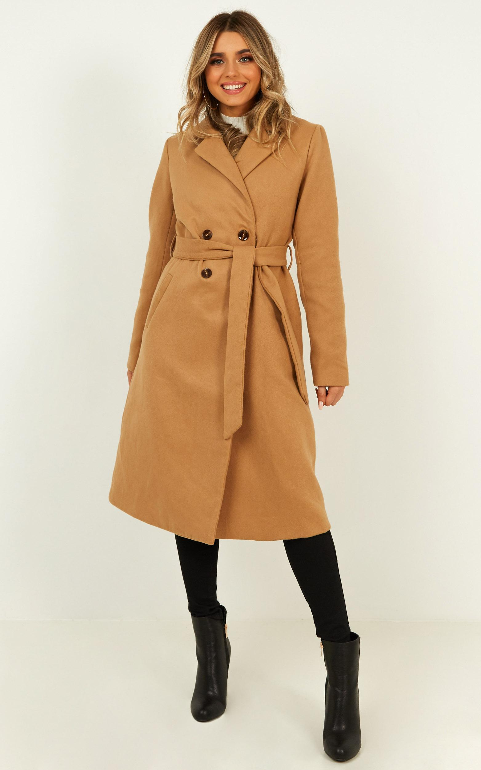 Forever Laughing Coat in camel - 20 (XXXXL), Camel, hi-res image number null