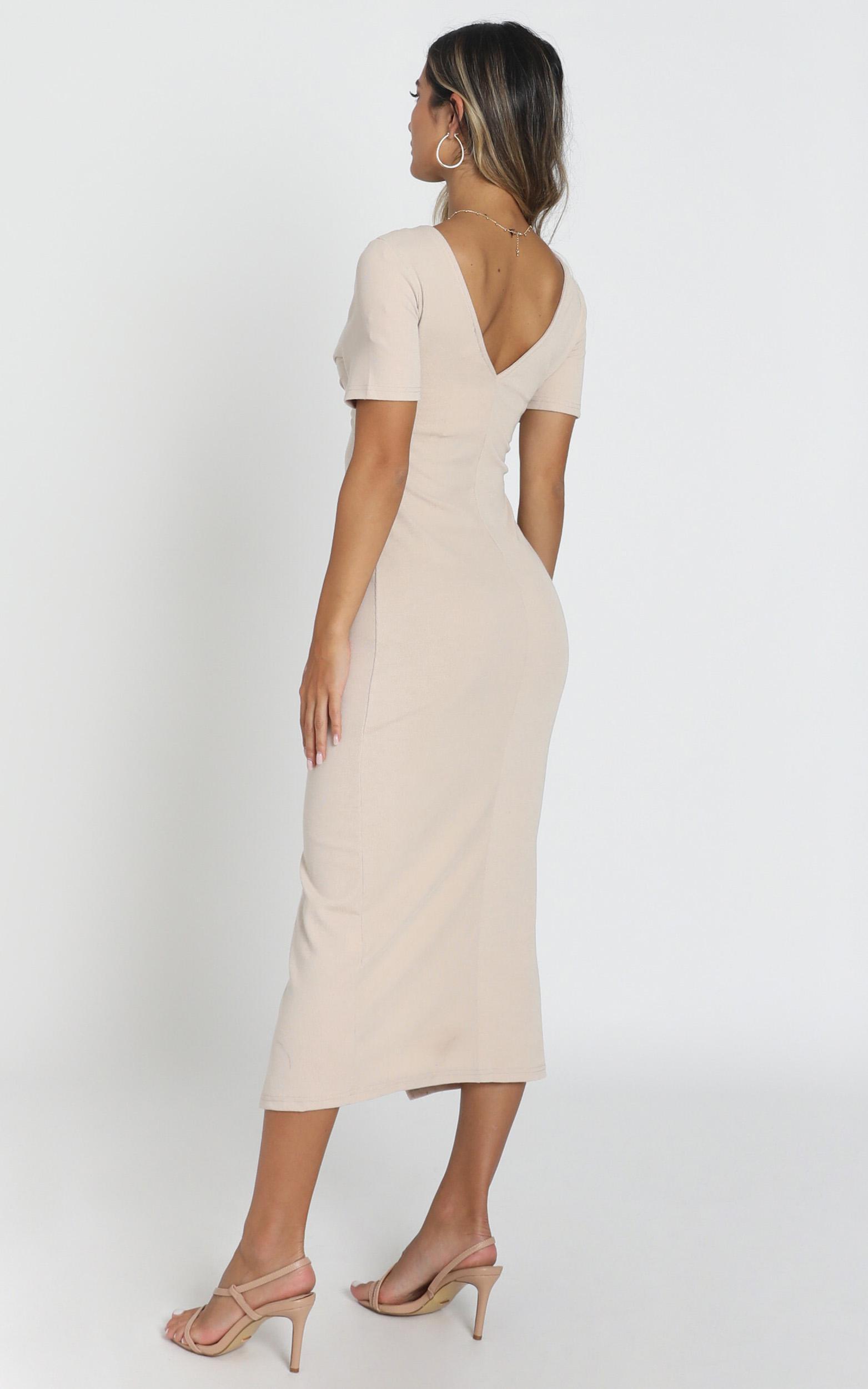 Press Rewind Dress in beige - 16 (XXL), Beige, hi-res image number null