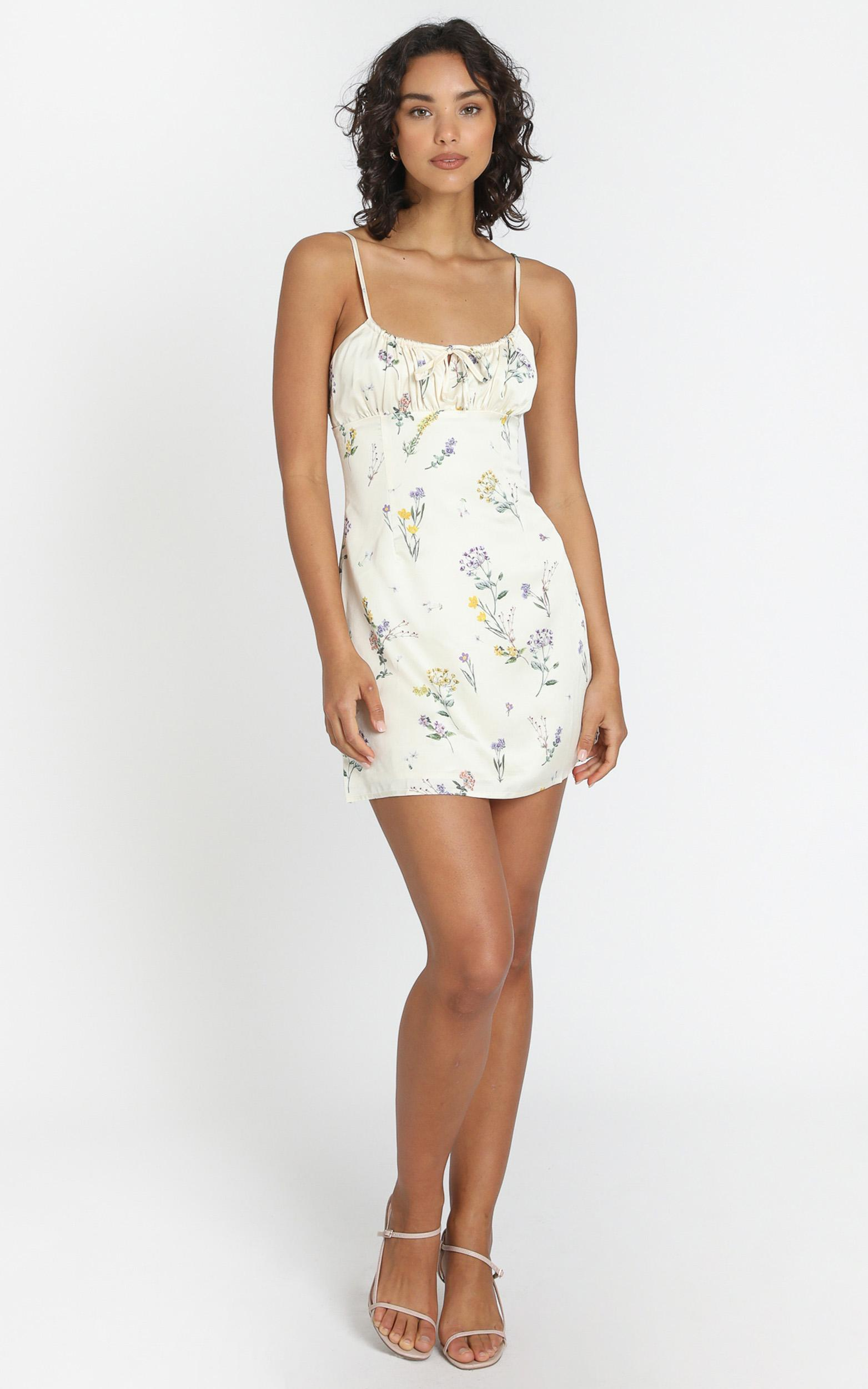 Ive Got You Now Dress in Botanical Floral, Cream, hi-res image number null