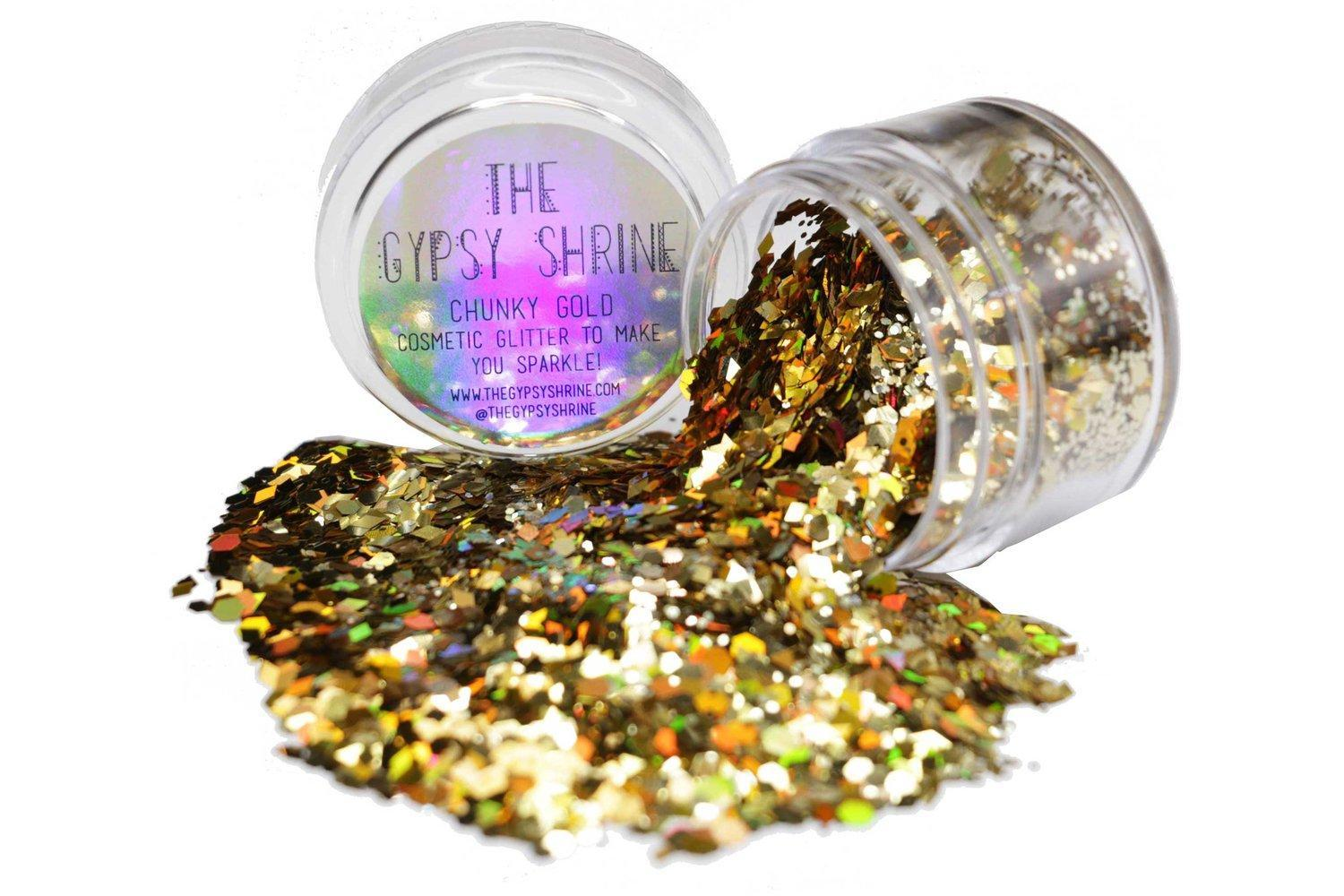 Gypsy Shrine -  Chunky Gold Glitter Pot , Gold, hi-res image number null