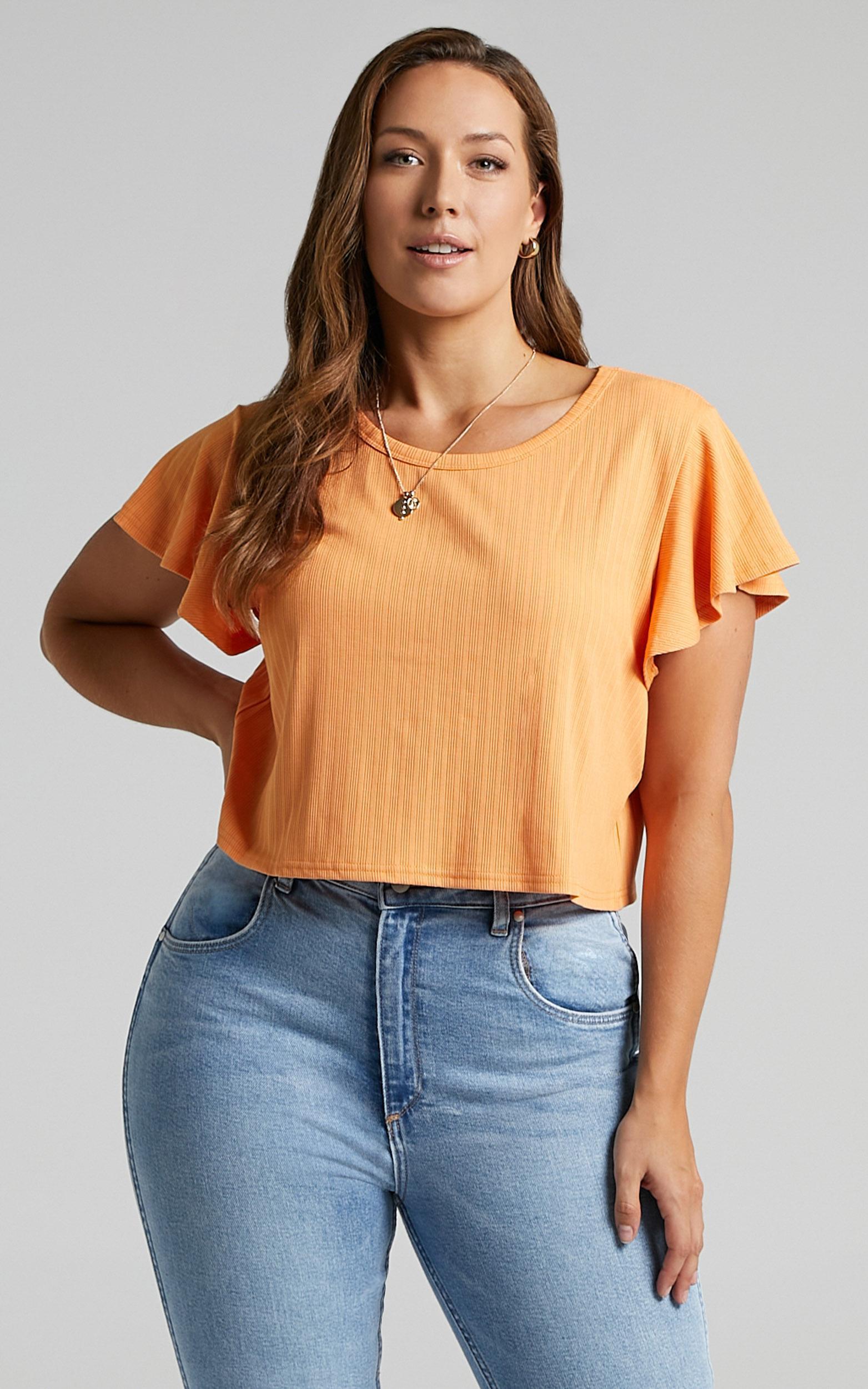 Broome Top in Sherbet - 6 (XS), Orange, hi-res image number null