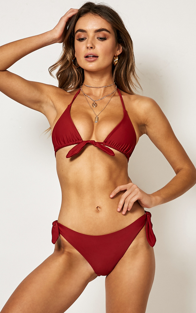 Hallie Bikini Bottom in Chilli - 14 (XL), Red, hi-res image number null