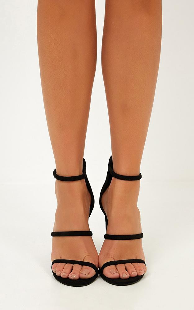 Billini - Dita heels in black micro - 10, Black, hi-res image number null