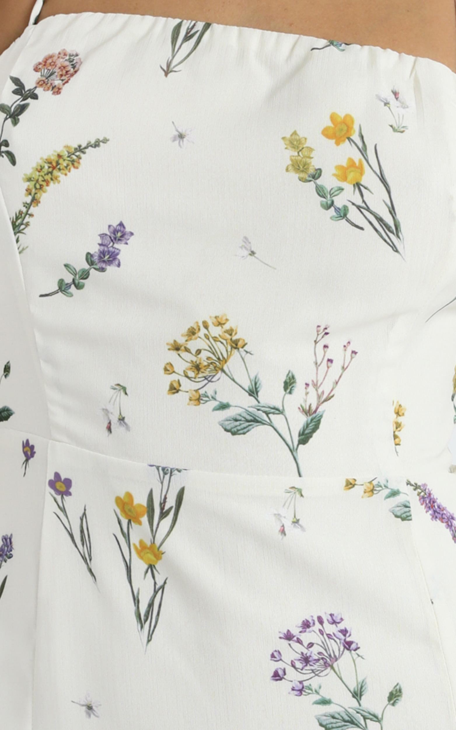 Making Promises Dress in botanical floral - 4 (XXS), Cream, hi-res image number null