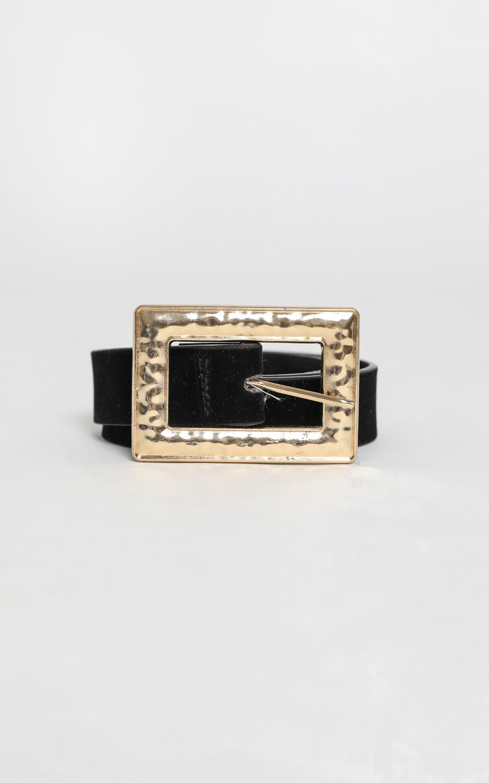 Sammy Belt in Black and Gold, , hi-res image number null