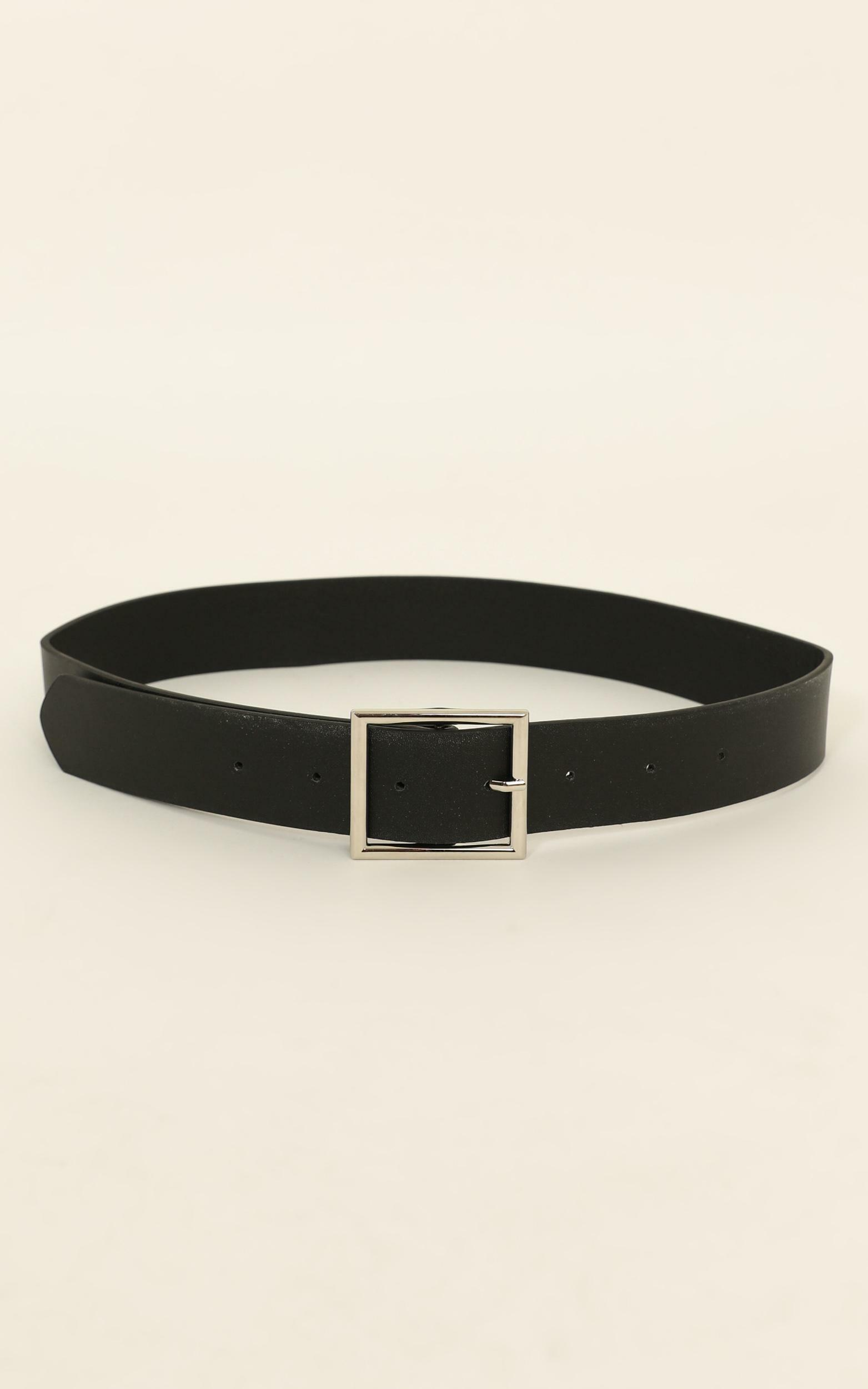 Keeping It belt in black and silver, , hi-res image number null