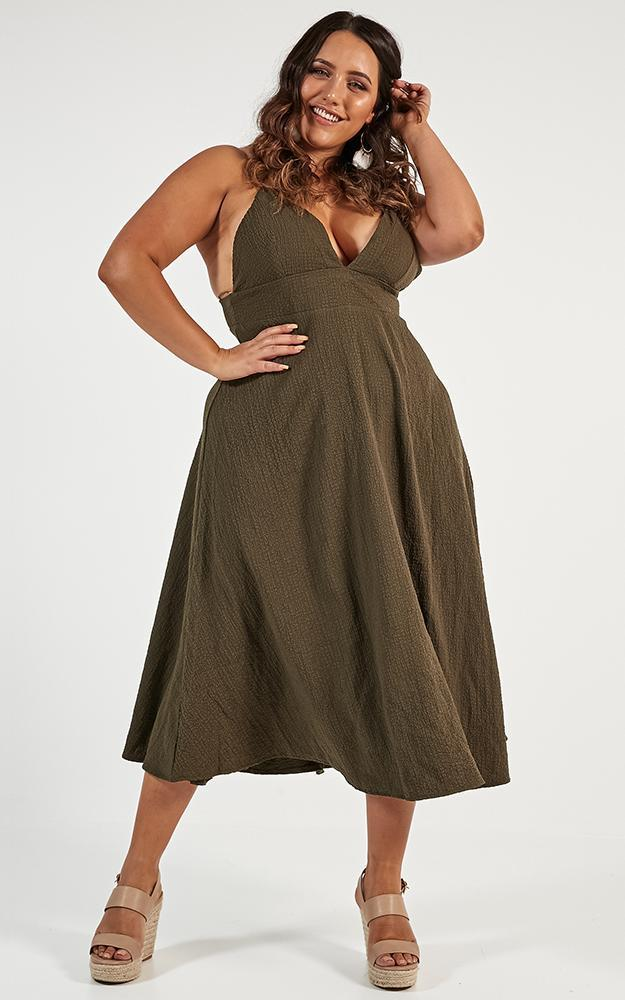Oh Romeo Dress in khaki - 16 (XXL), Khaki, hi-res image number null