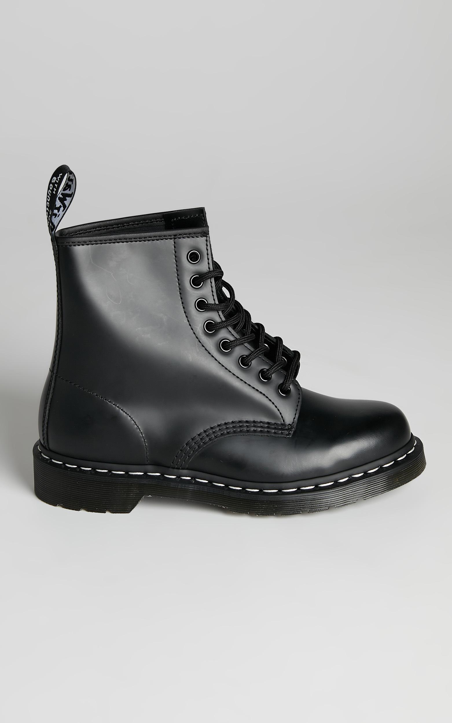 Dr. Martens - 1460 WS 8 Eye Boot in Black Smooth - 05, BLK1, hi-res image number null