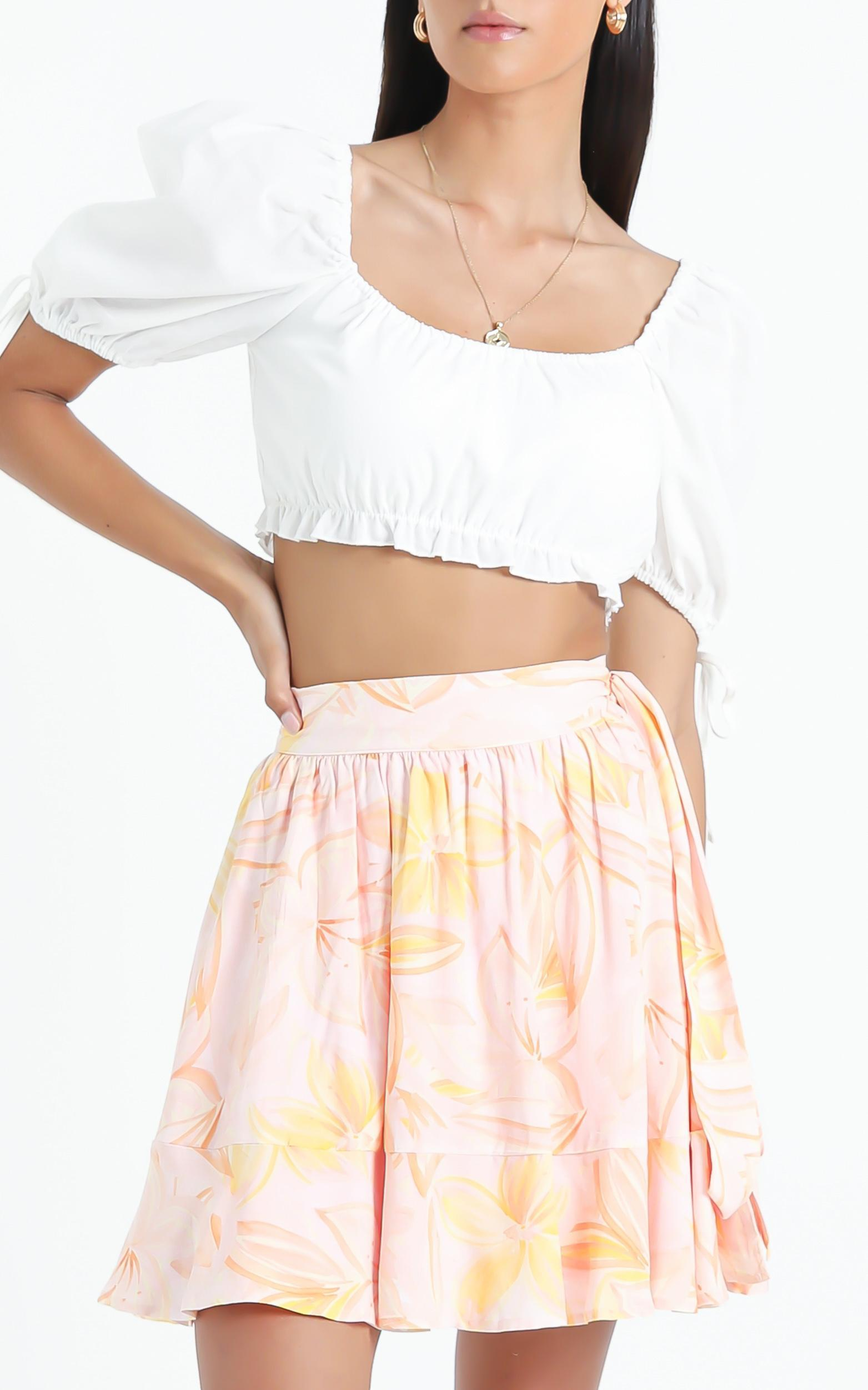 Eimear Skirt in Summer Floral - 6 (XS), Pink, hi-res image number null