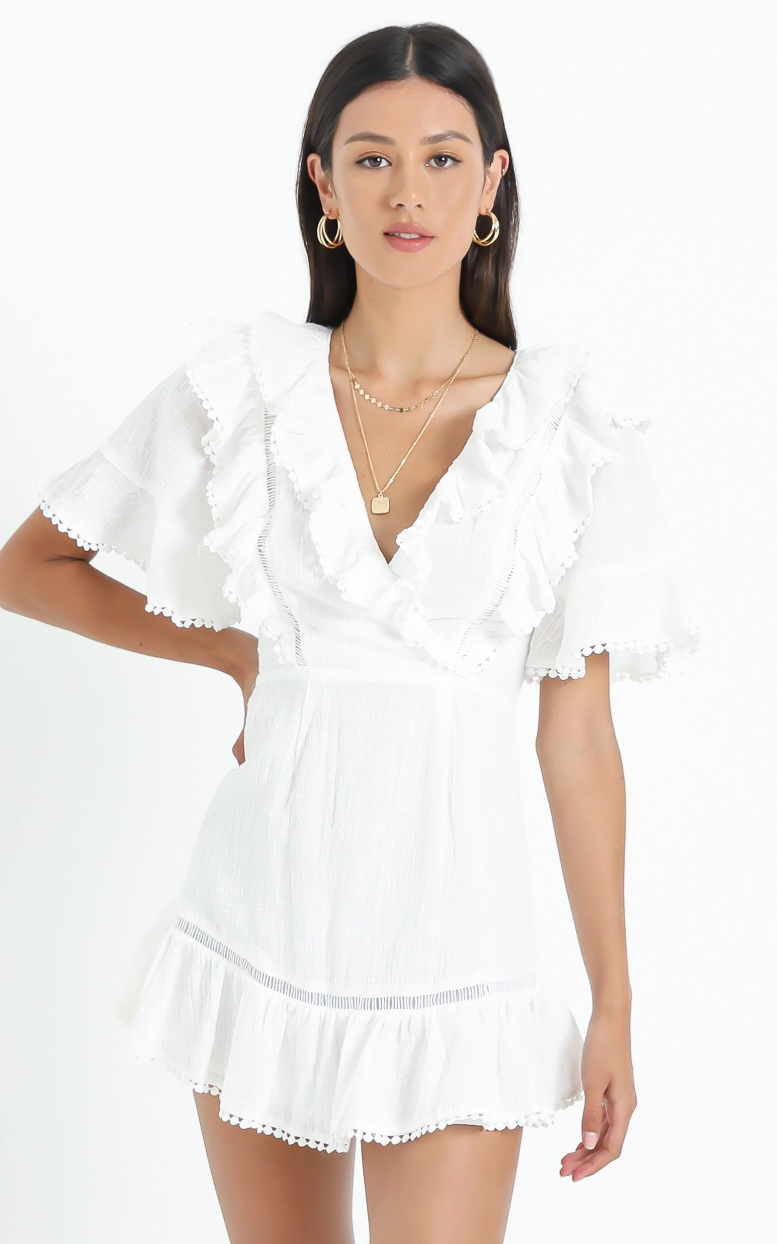 Lilii Dress in White - 6 (XS), White, hi-res image number null