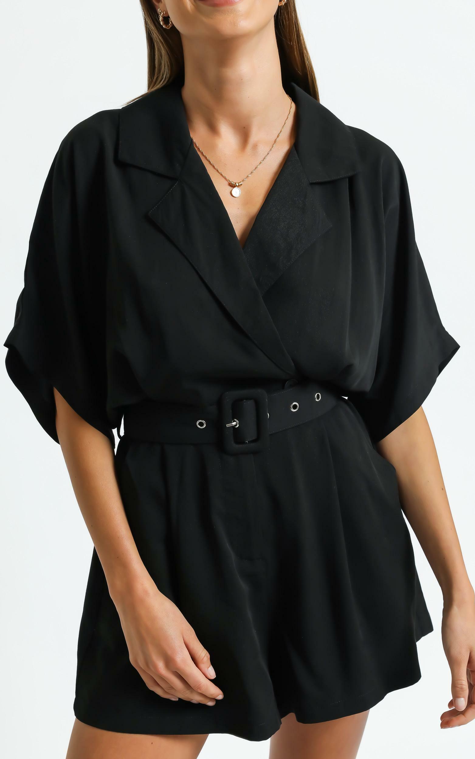 Tonia Playsuit in Black - 6 (XS), Black, hi-res image number null