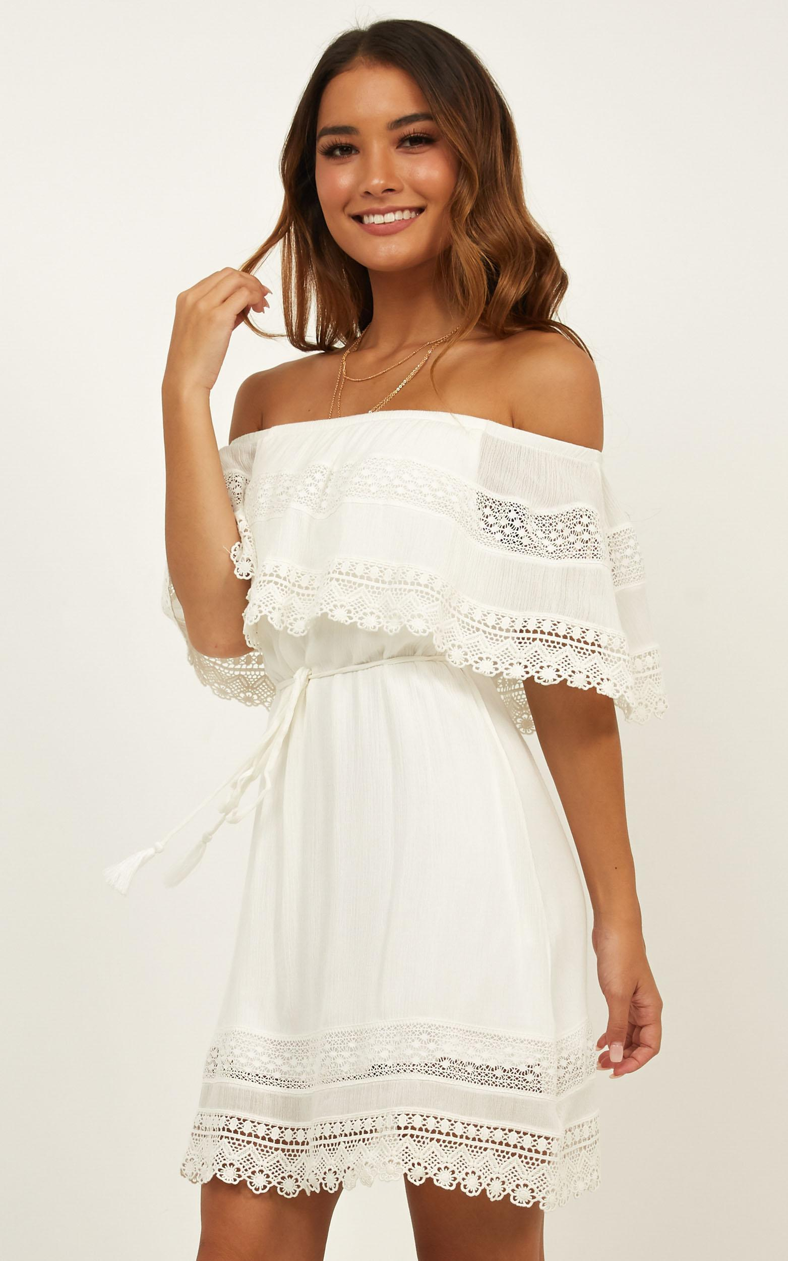 Another Story dress in white lace - 12 (L), White, hi-res image number null