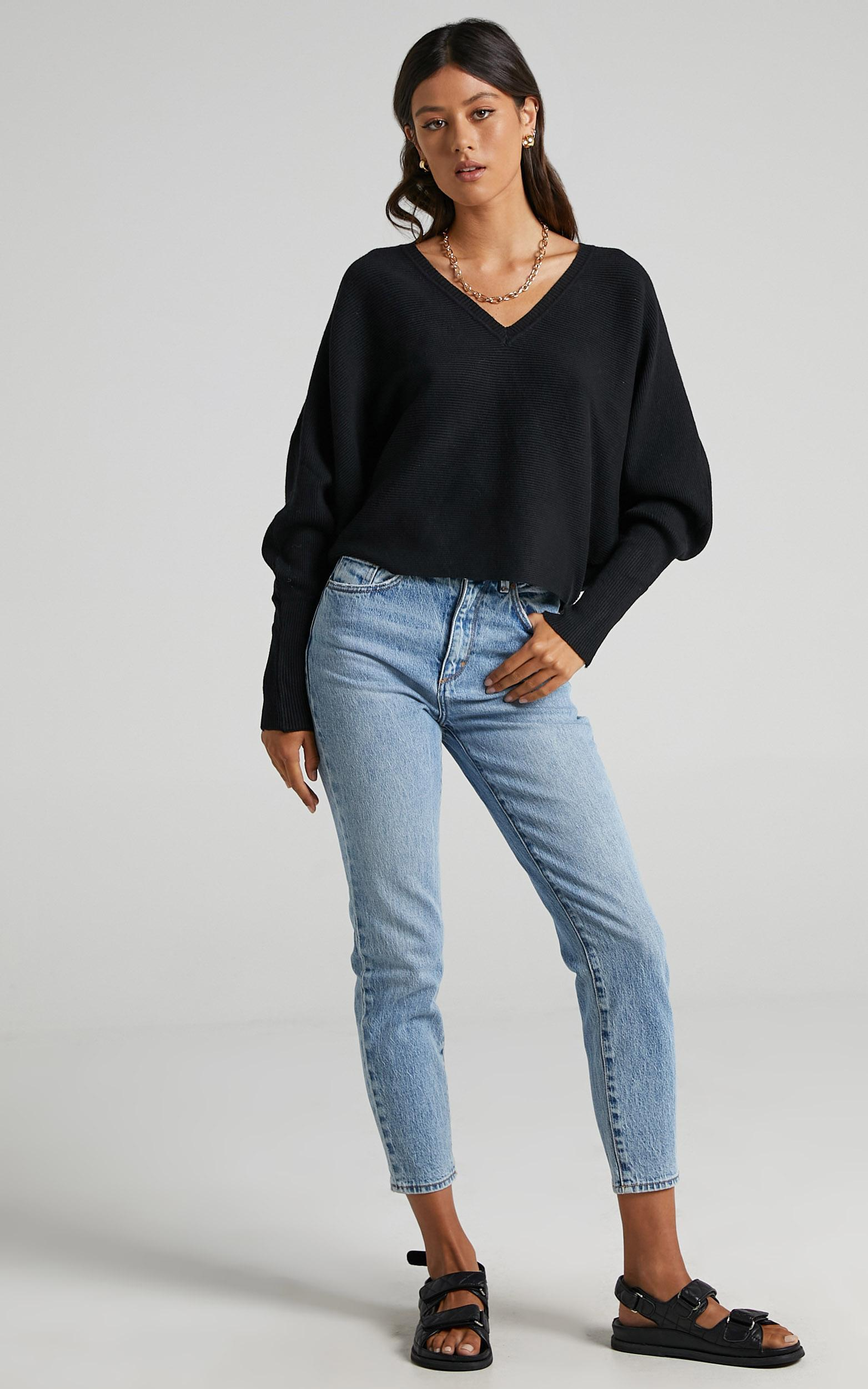 Winning At Life Knit Sweater in Black - 14, BLK1, hi-res image number null