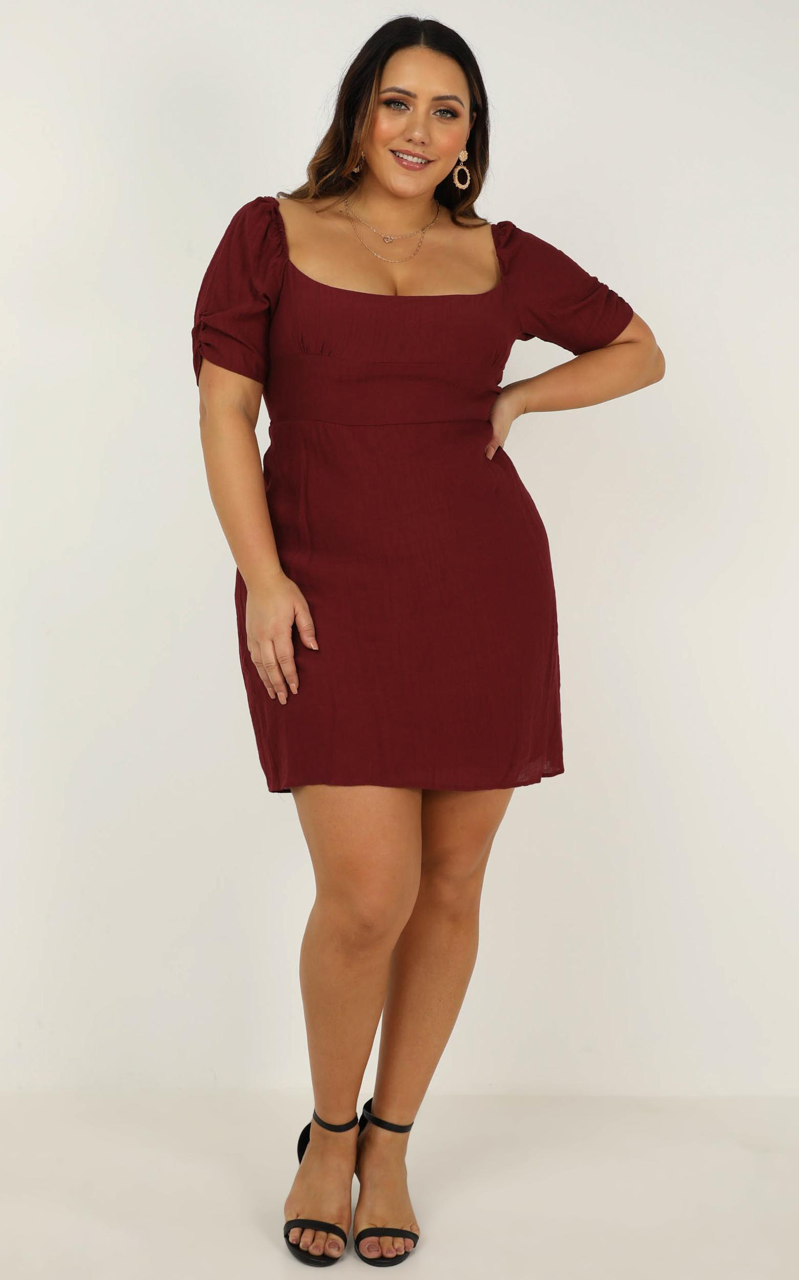 Valley Life Dress in wine - 20 (XXXXL), Wine, hi-res image number null