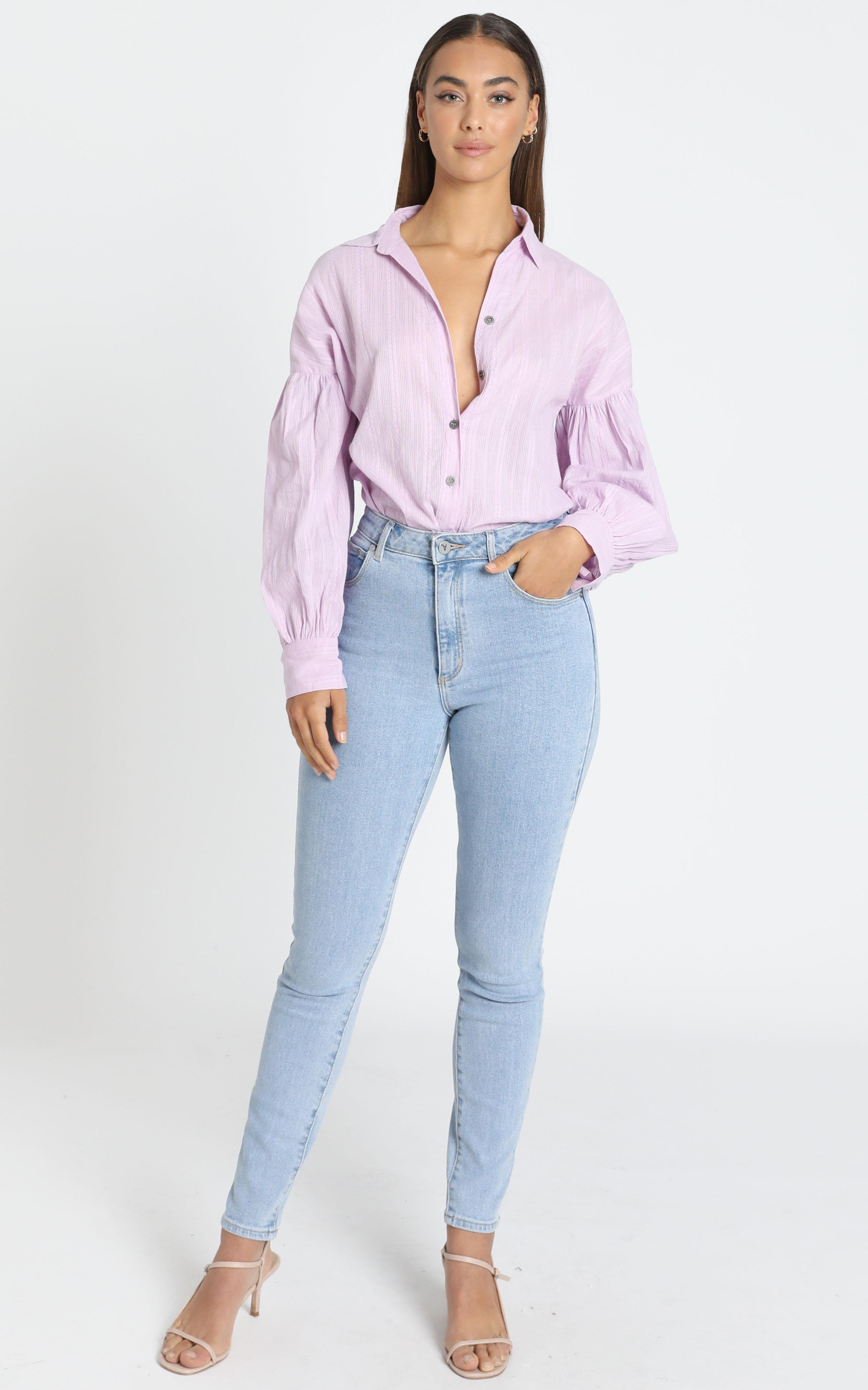 Lennon Shirt in Lilac - 6 (XS), Purple, hi-res image number null