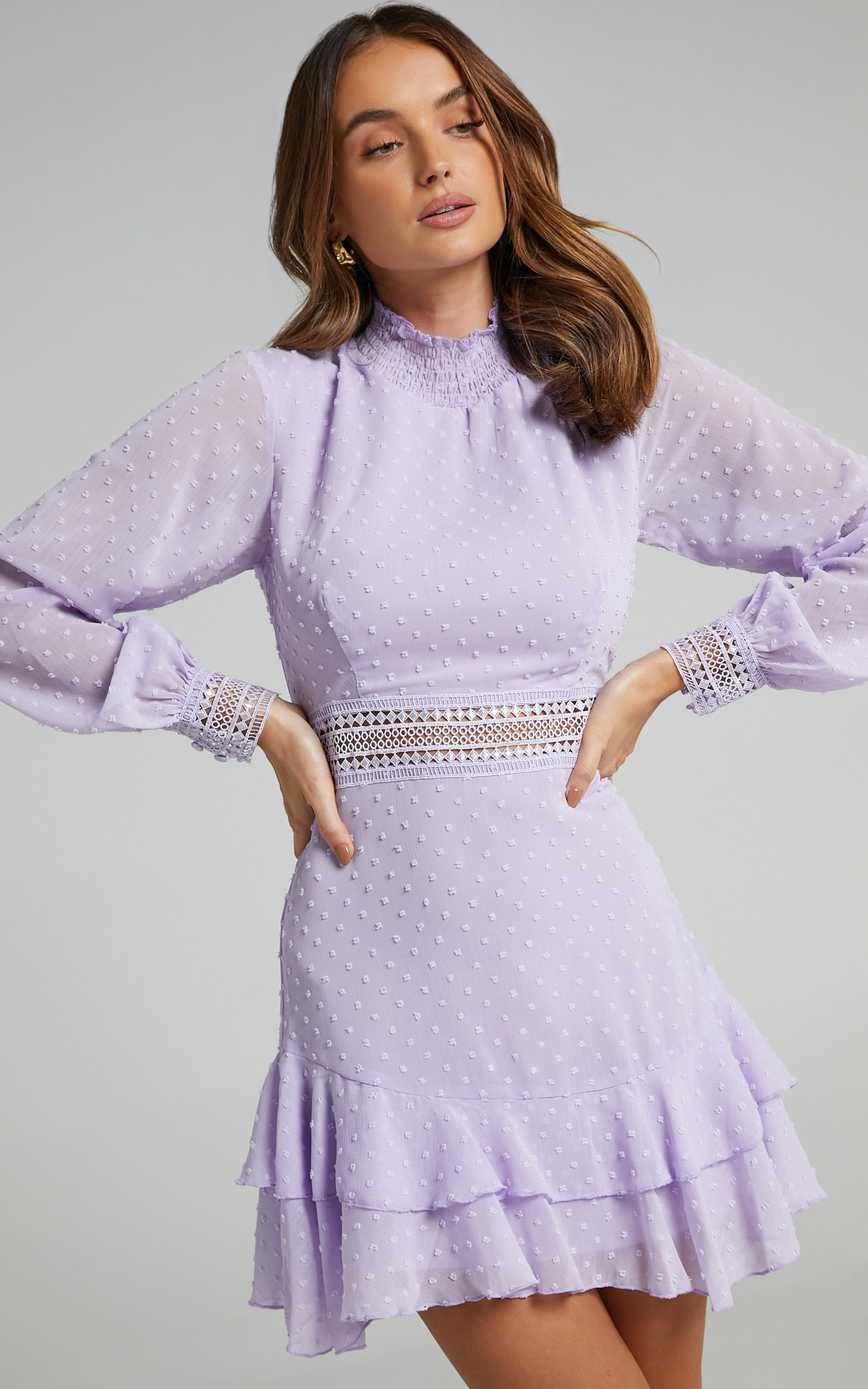 Are You Gonna Kiss Me Dress in Lilac - 04, PRP3, hi-res image number null