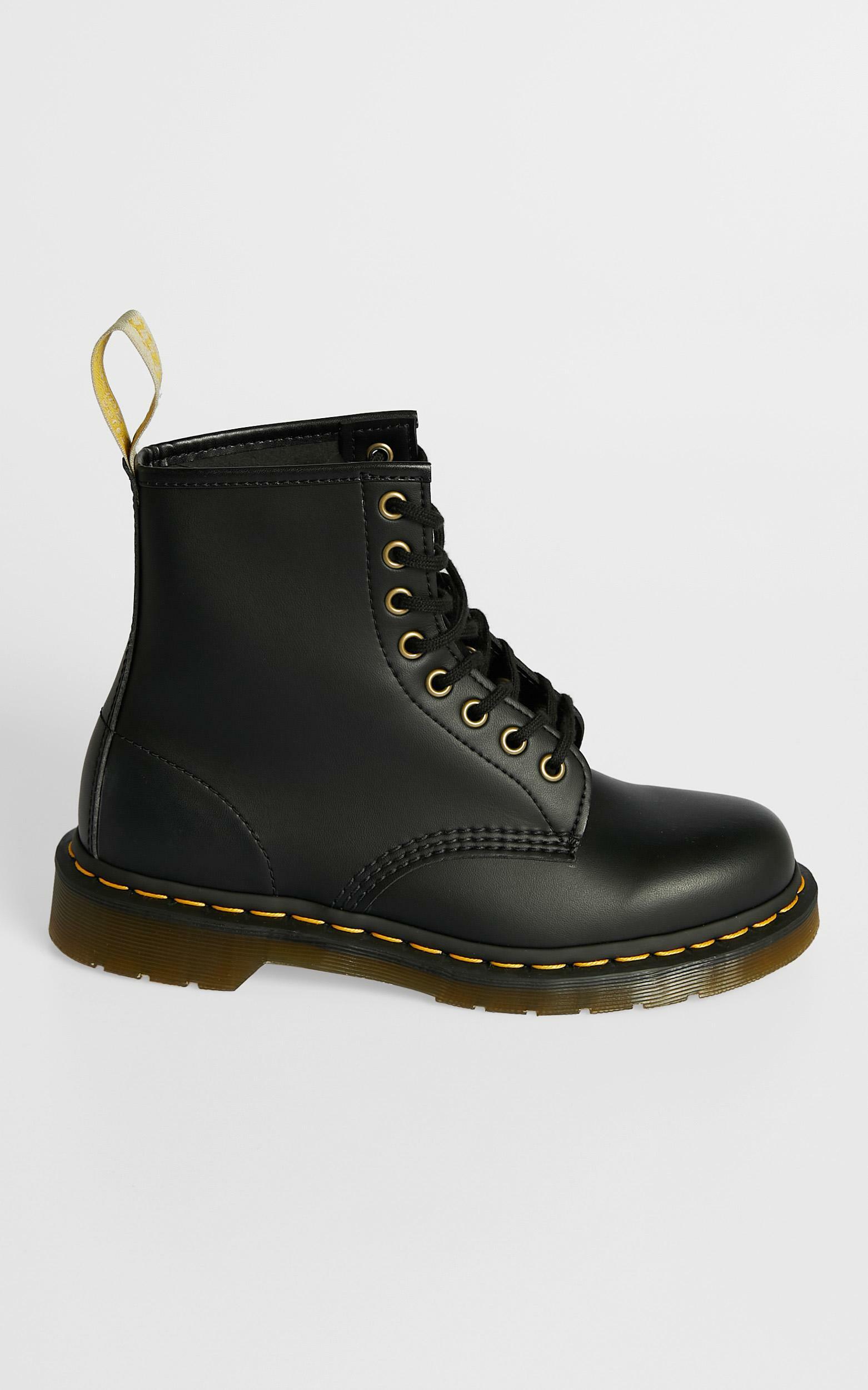 Dr. Martens - 1460 Vegan 8 Eye Boot in Black - 5, Black, hi-res image number null