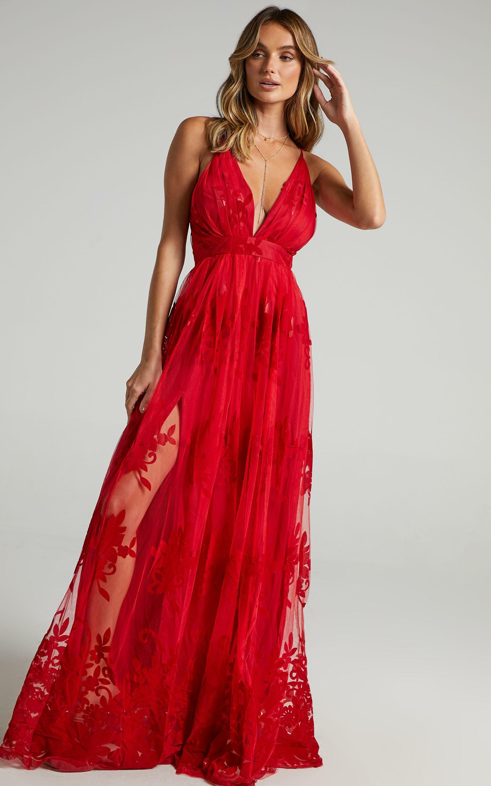 Promenade Maxi Dress in Red - 08, RED6, hi-res image number null