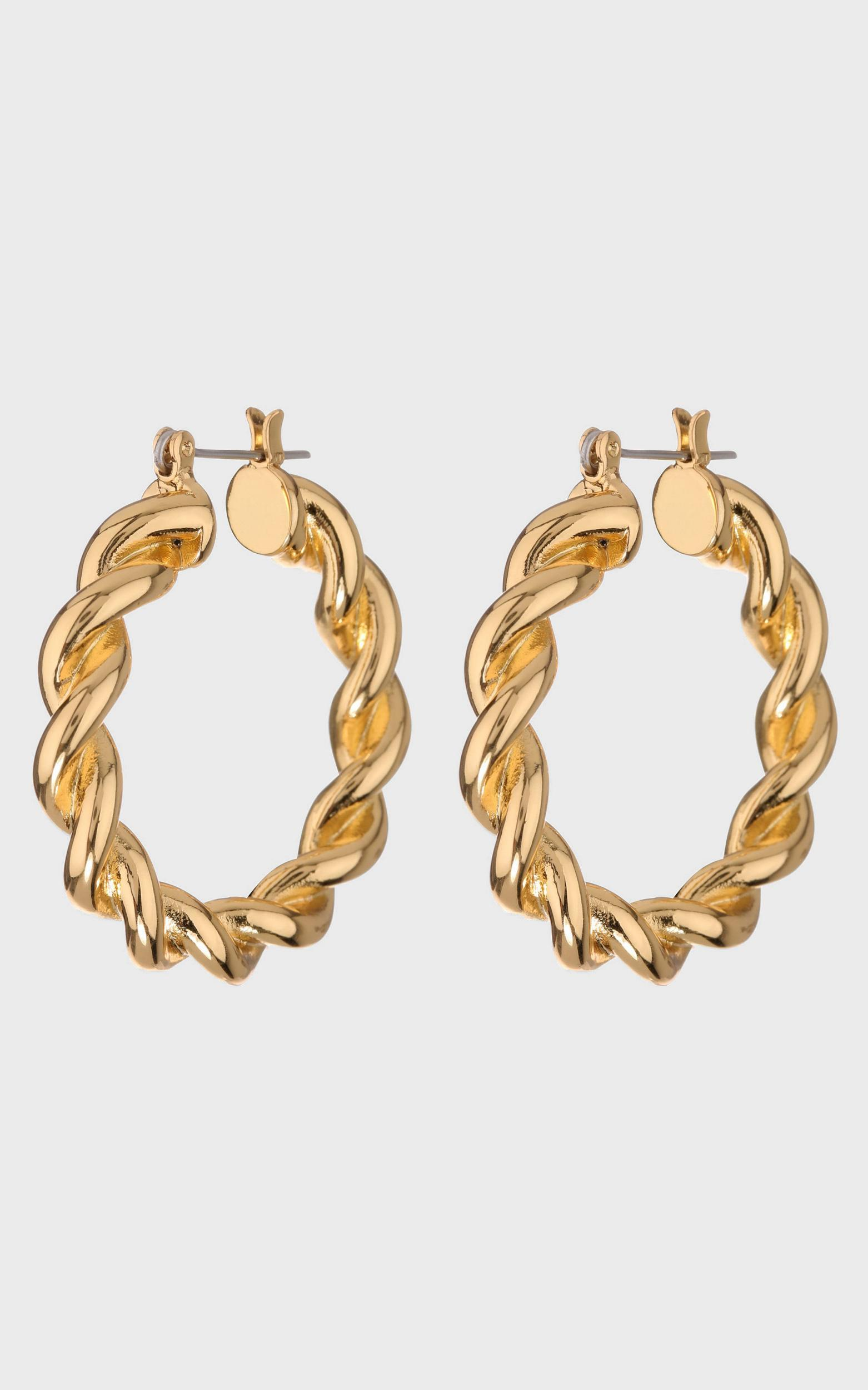 Luv Aj - St. Tropez Hoops in Gold, , hi-res image number null