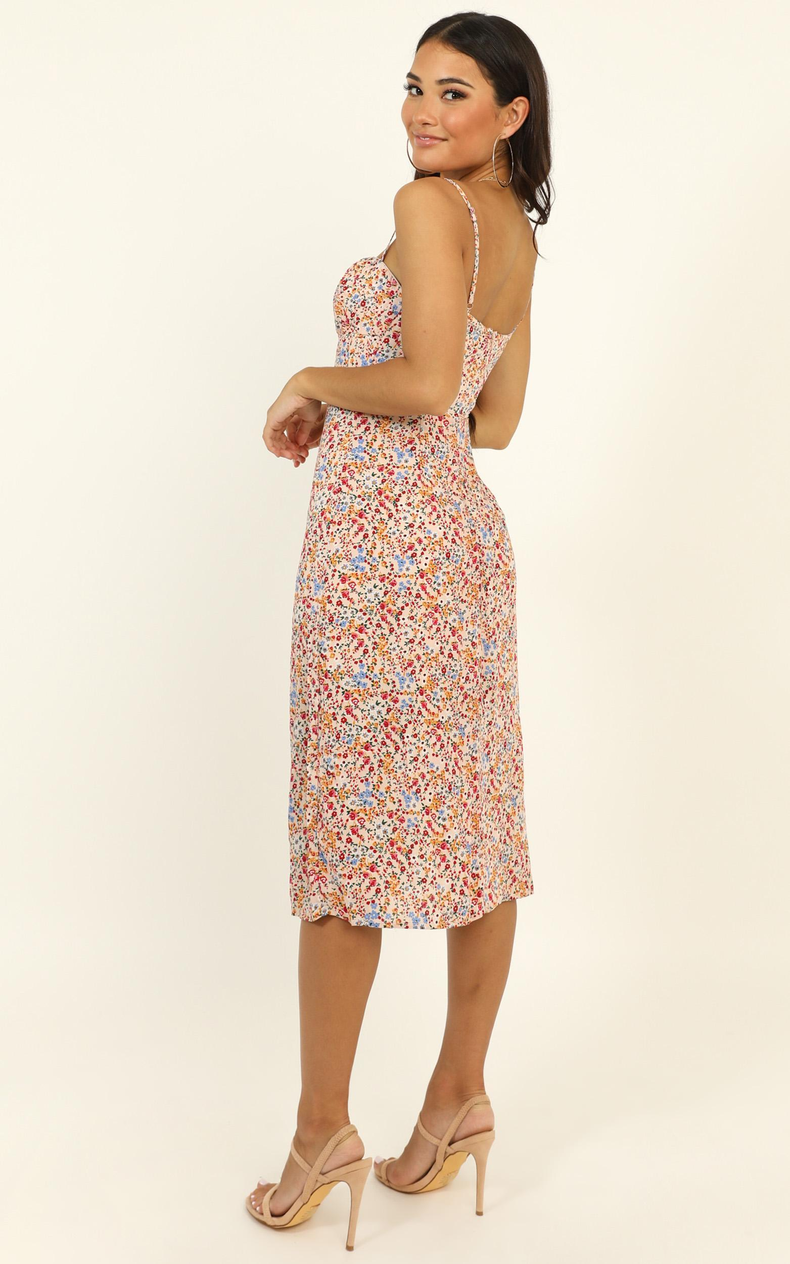 Slow Rush dress in multi floral - 14 (XL), Multi, hi-res image number null