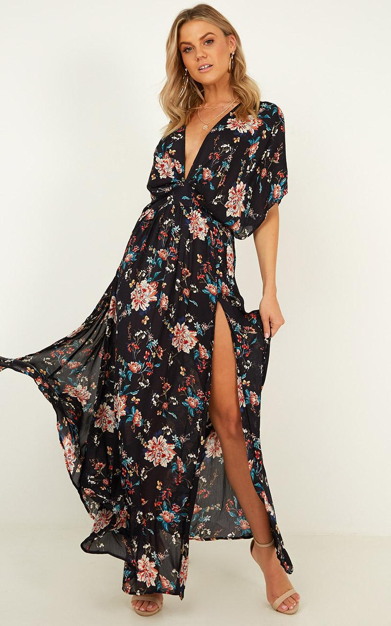 Vacay Ready Maxi dress in dark navy floral - 4 (XXS), NVY5, hi-res image number null