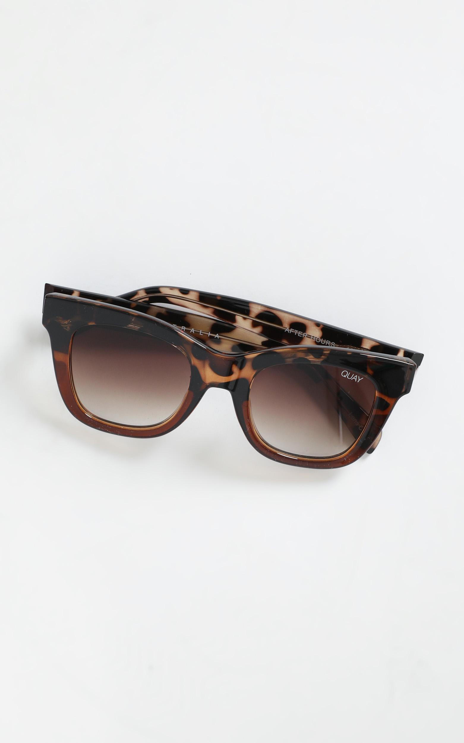 Quay - After Hours Sunglasses In Tort And Brown Lens, Brown, hi-res image number null