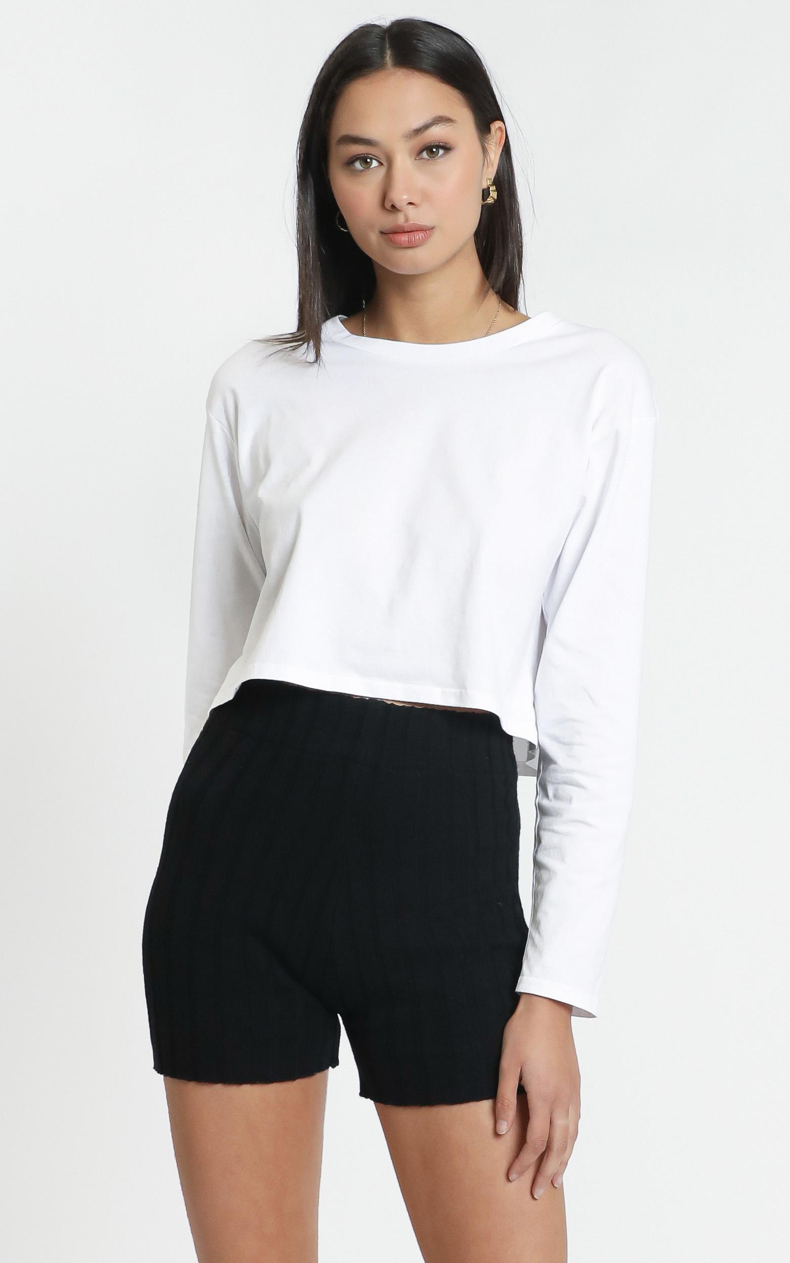 Vera Knit Shorts in Black - L, BLK1, hi-res image number null