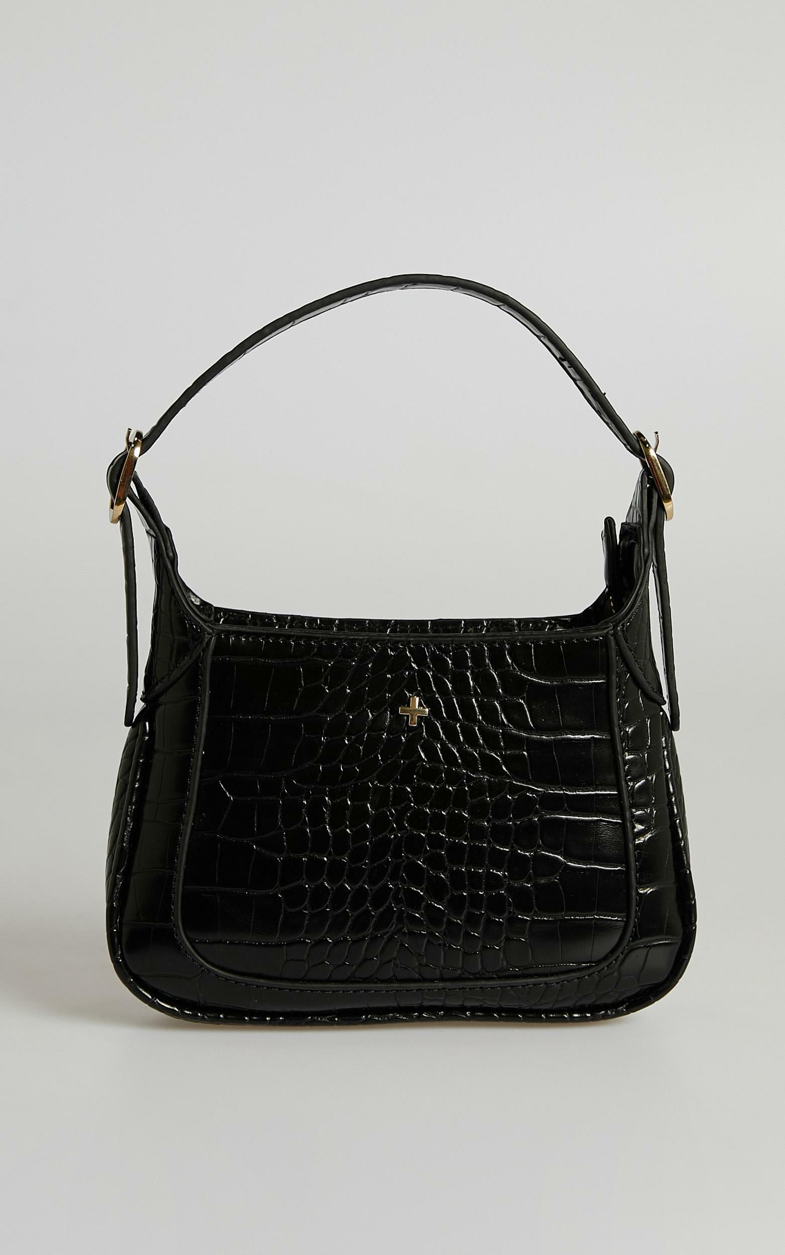 Peta and Jain - Gaga Bag in Black Croc, , hi-res image number null