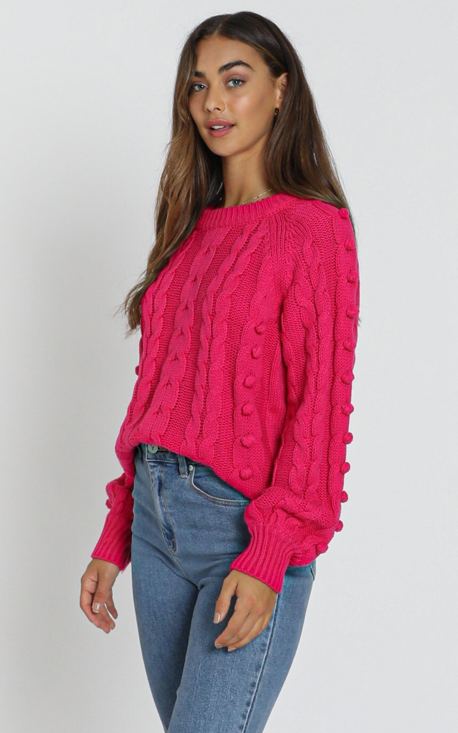 Brianna Bobble Knit in hot pink - S/M, Pink, hi-res image number null