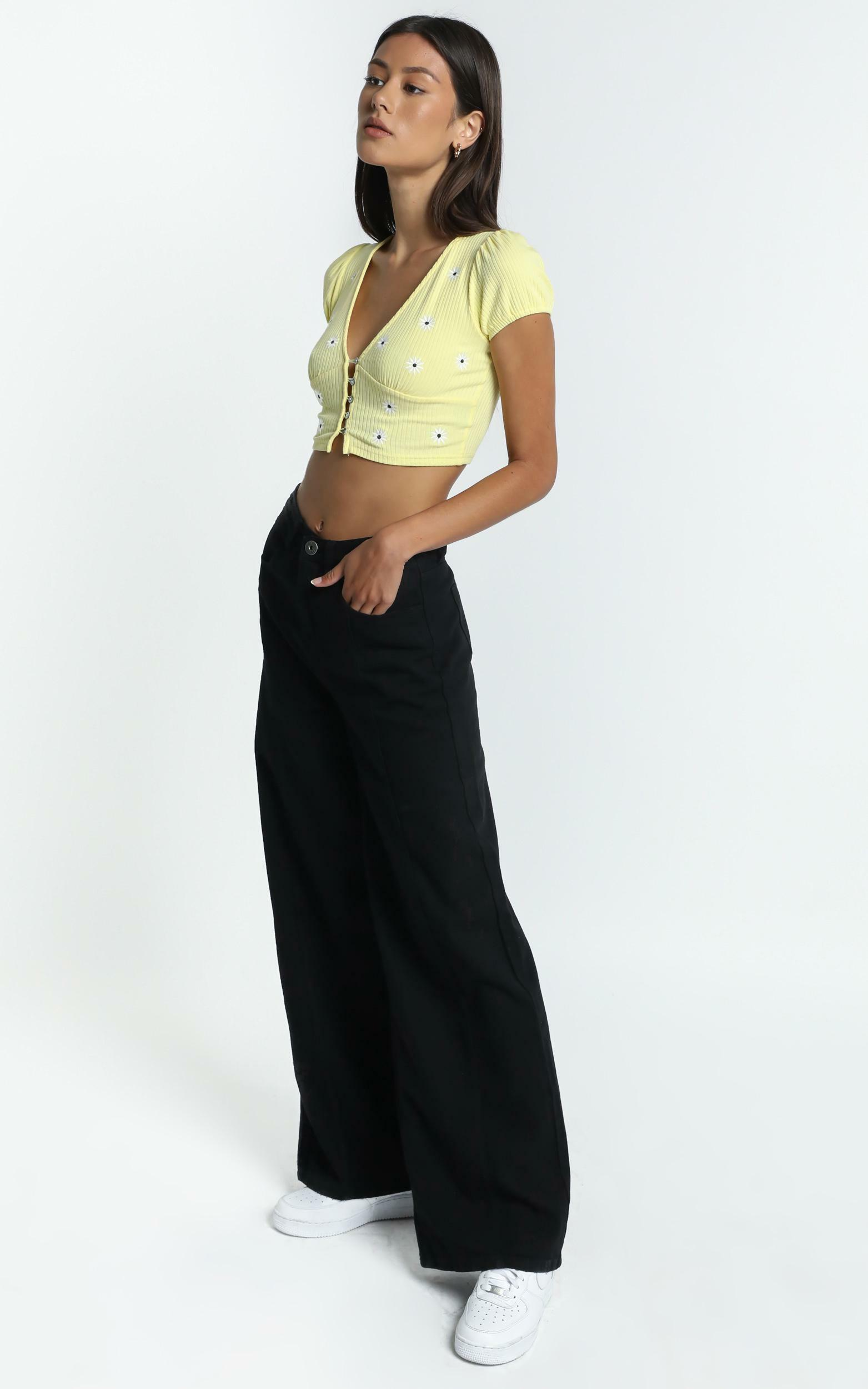 Cadence Top in Yellow - 8 (S), Yellow, hi-res image number null