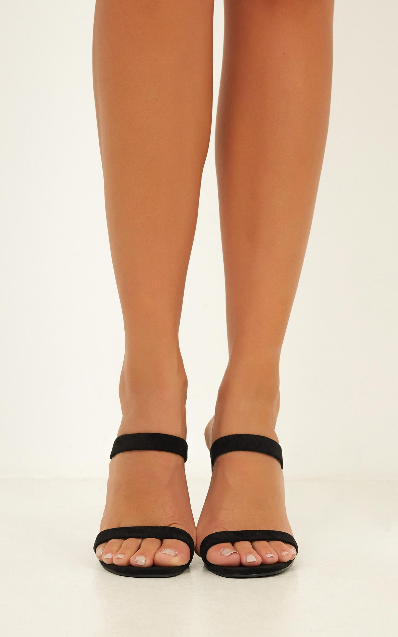 Billini - Omega heels in black micro - 10, Black, hi-res image number null