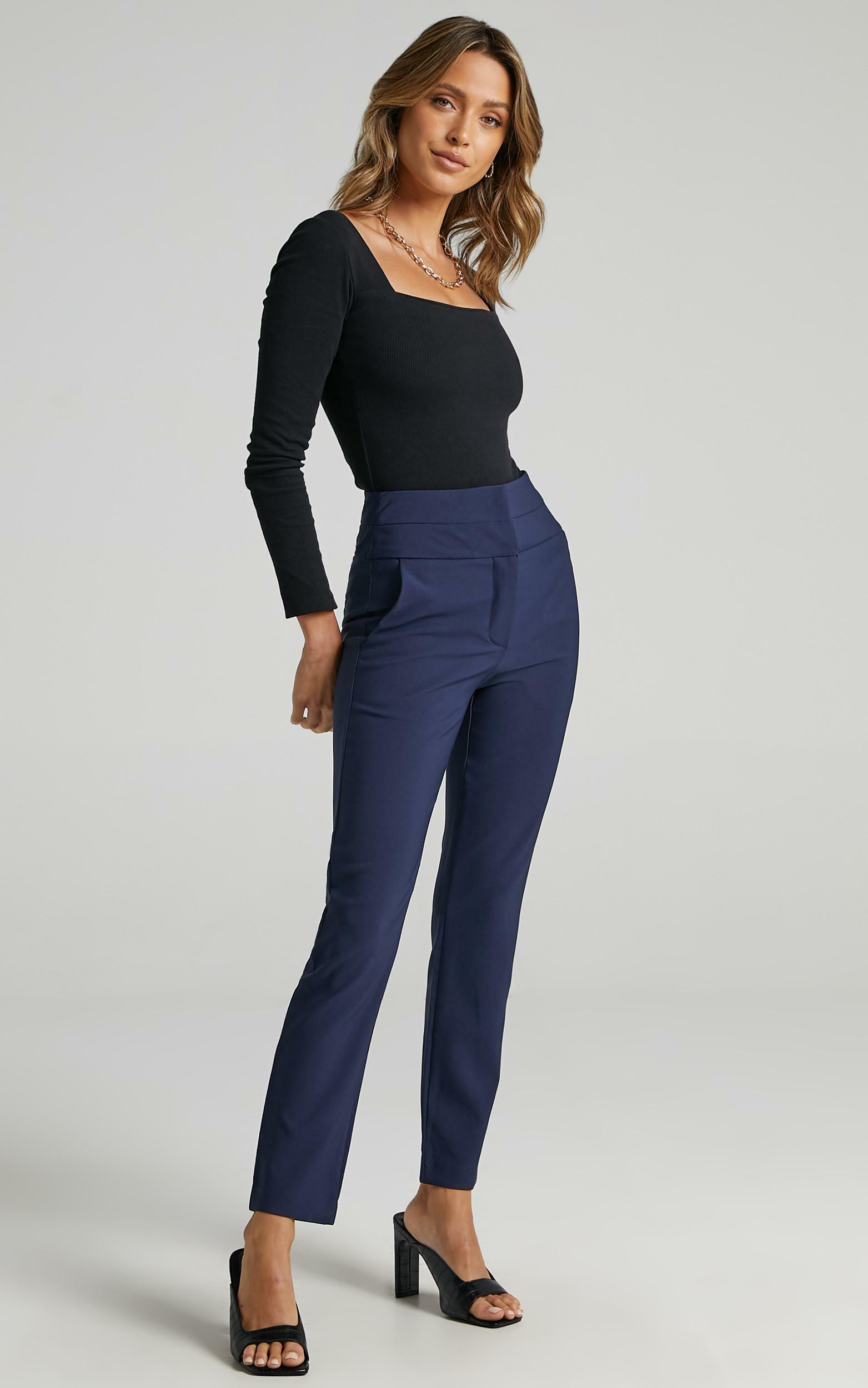 Hailey Trouser in Navy - 6 (XS), Navy, hi-res image number null