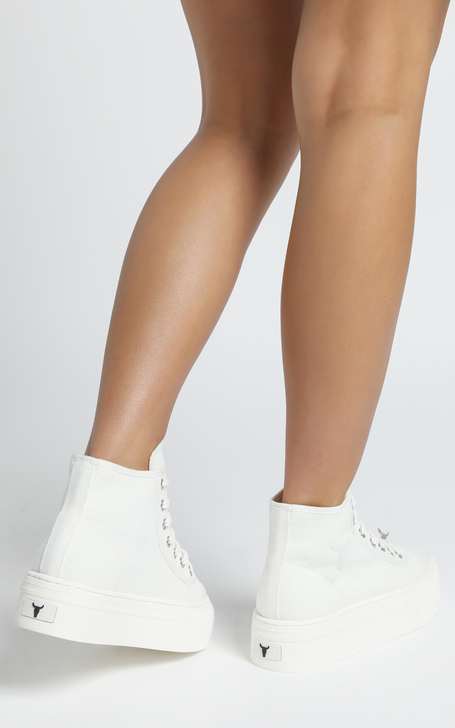 Windsor Smith - Runaway Sneakers in White Canvas - 6, WHT1, hi-res image number null