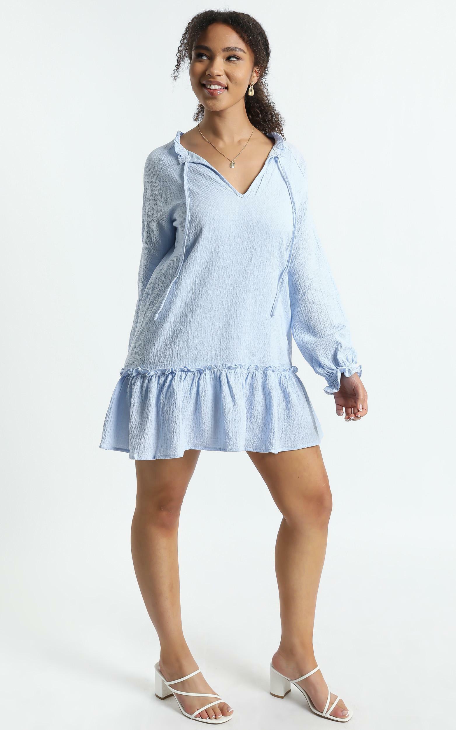 Mari Dress in Blue - 6 (XS), Blue, hi-res image number null