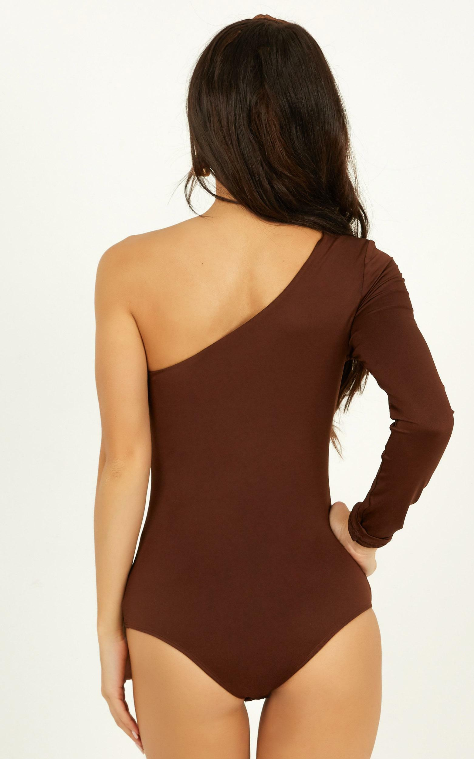 You Spoke My Name Bodysuit In chocolate - 16 (XXL), Brown, hi-res image number null