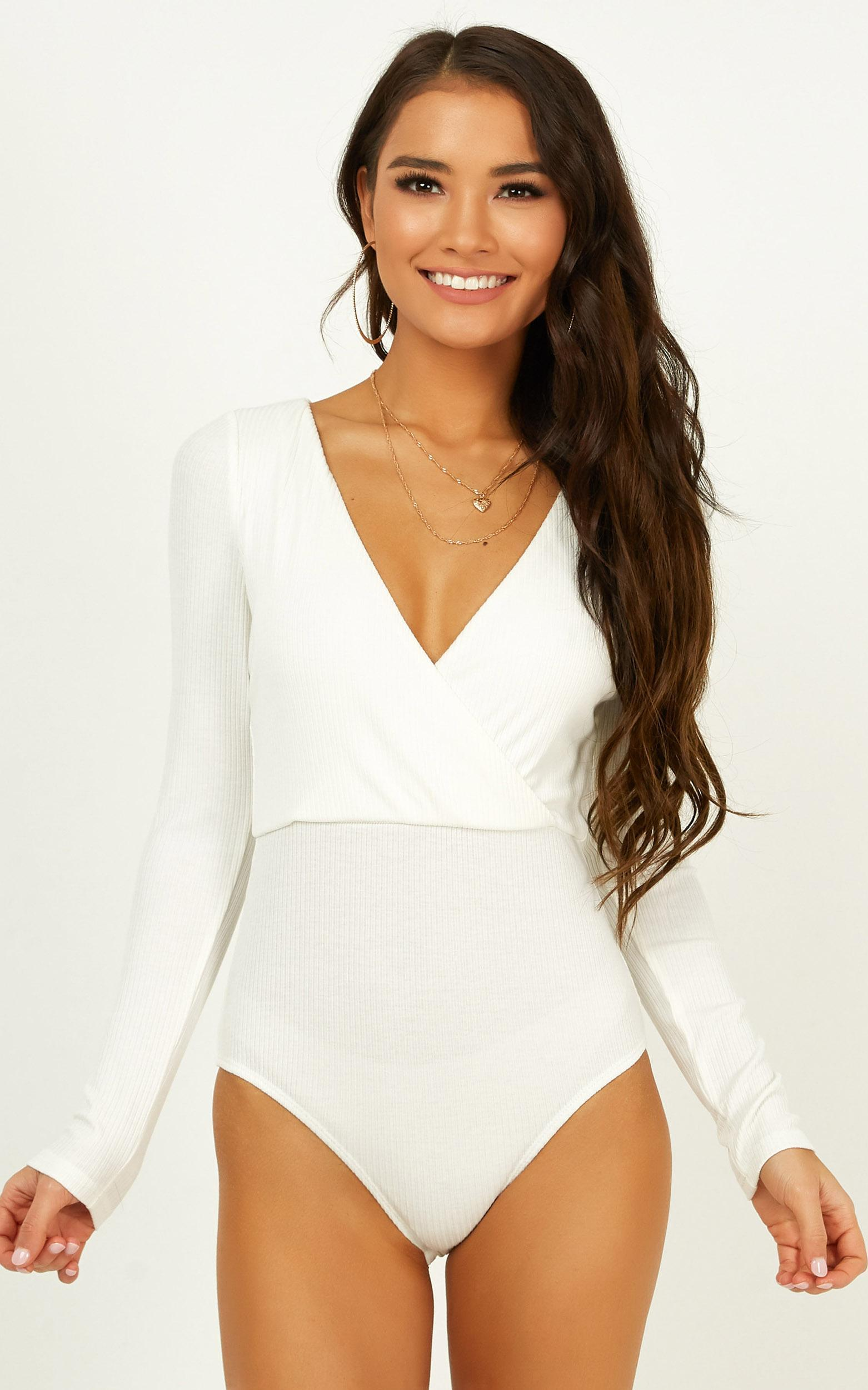 Charming Gal bodysuit in white - 18 (XXXL), White, hi-res image number null