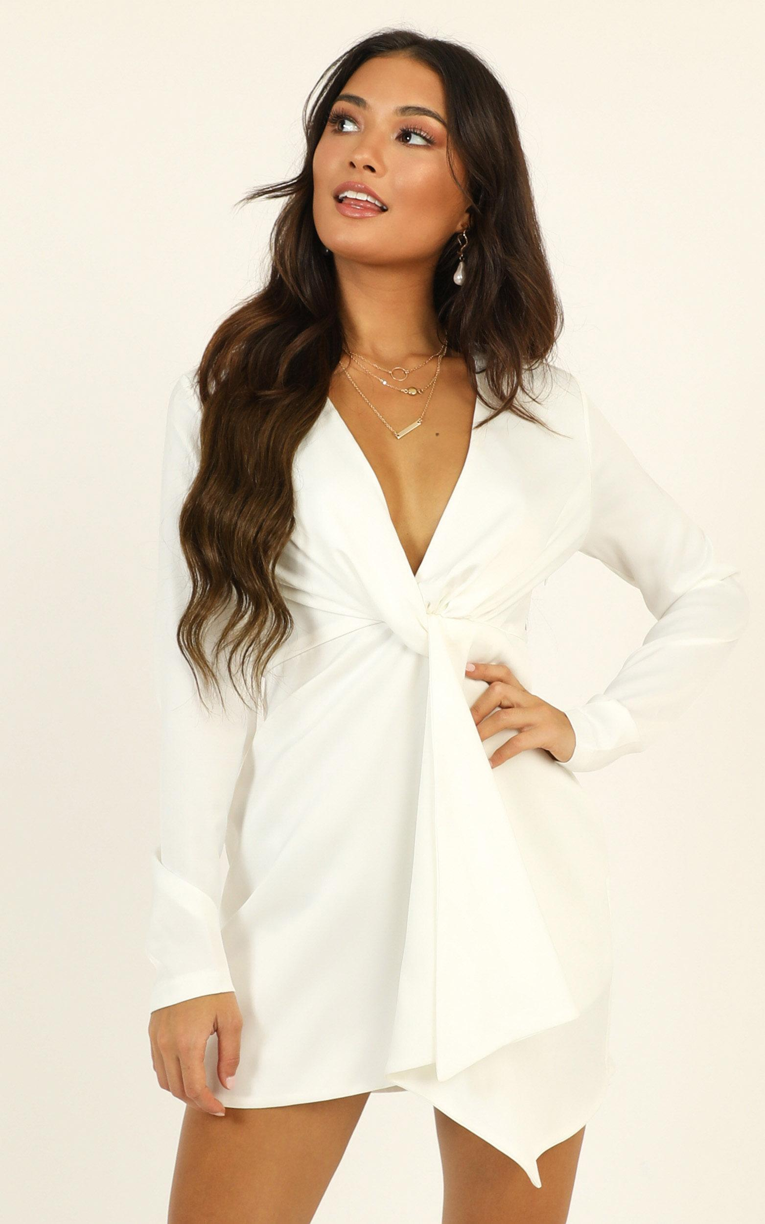 Stop Thinking About It Dress in white - 20 (XXXXL), White, hi-res image number null