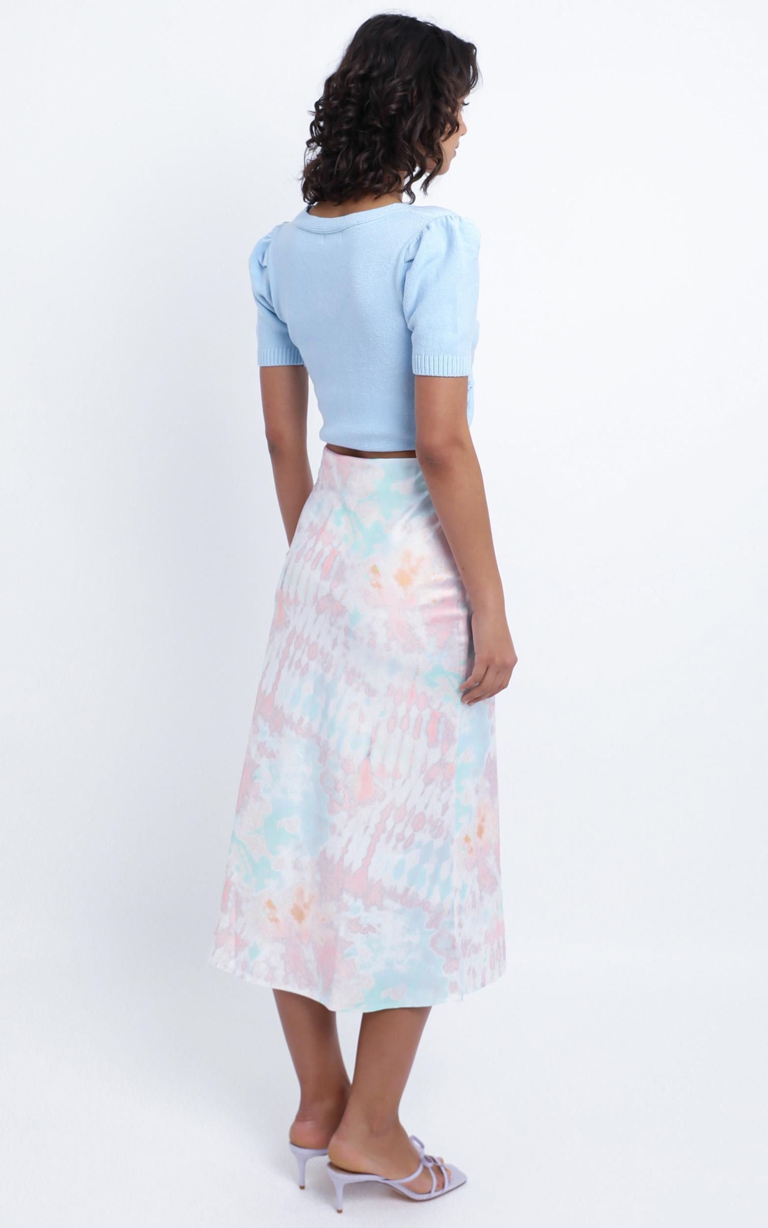 Chamberlain Skirt in Pink Tie Dye - 12 (L), Pink, hi-res image number null