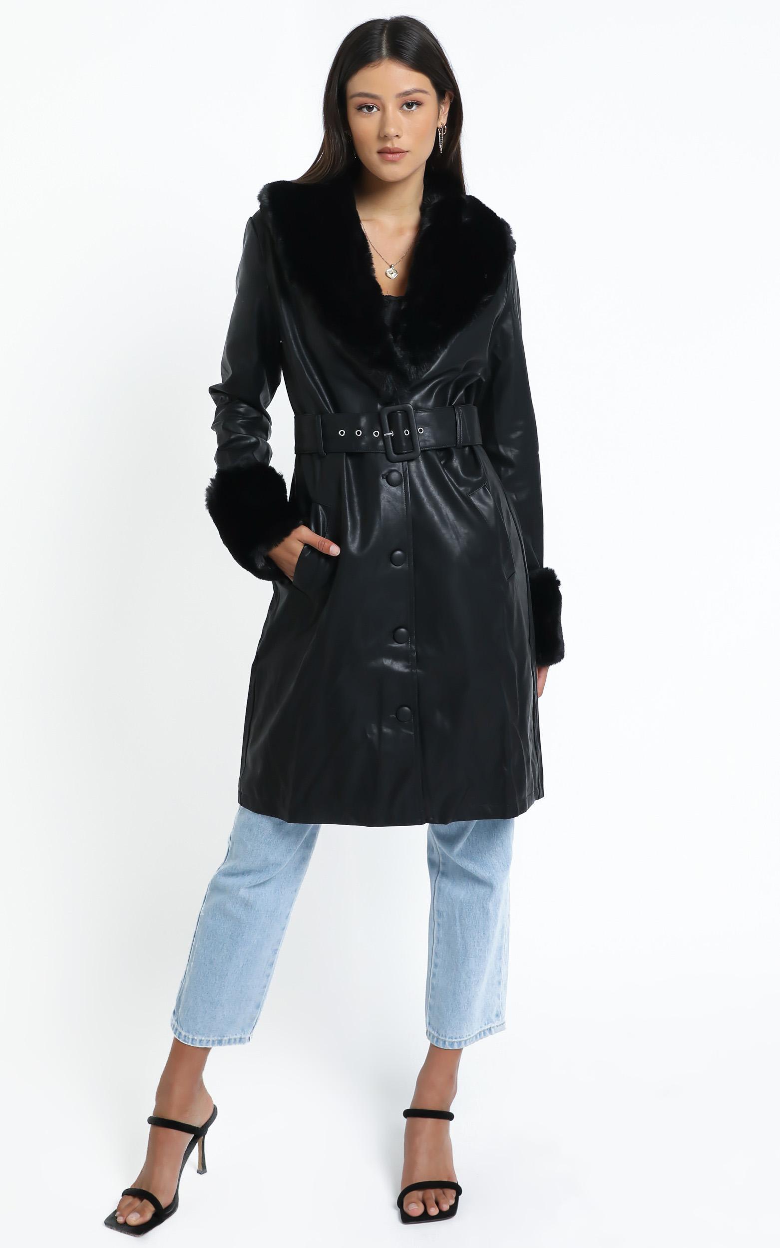 Brooklyn Long Coat in Black - 12 (L), Black, hi-res image number null