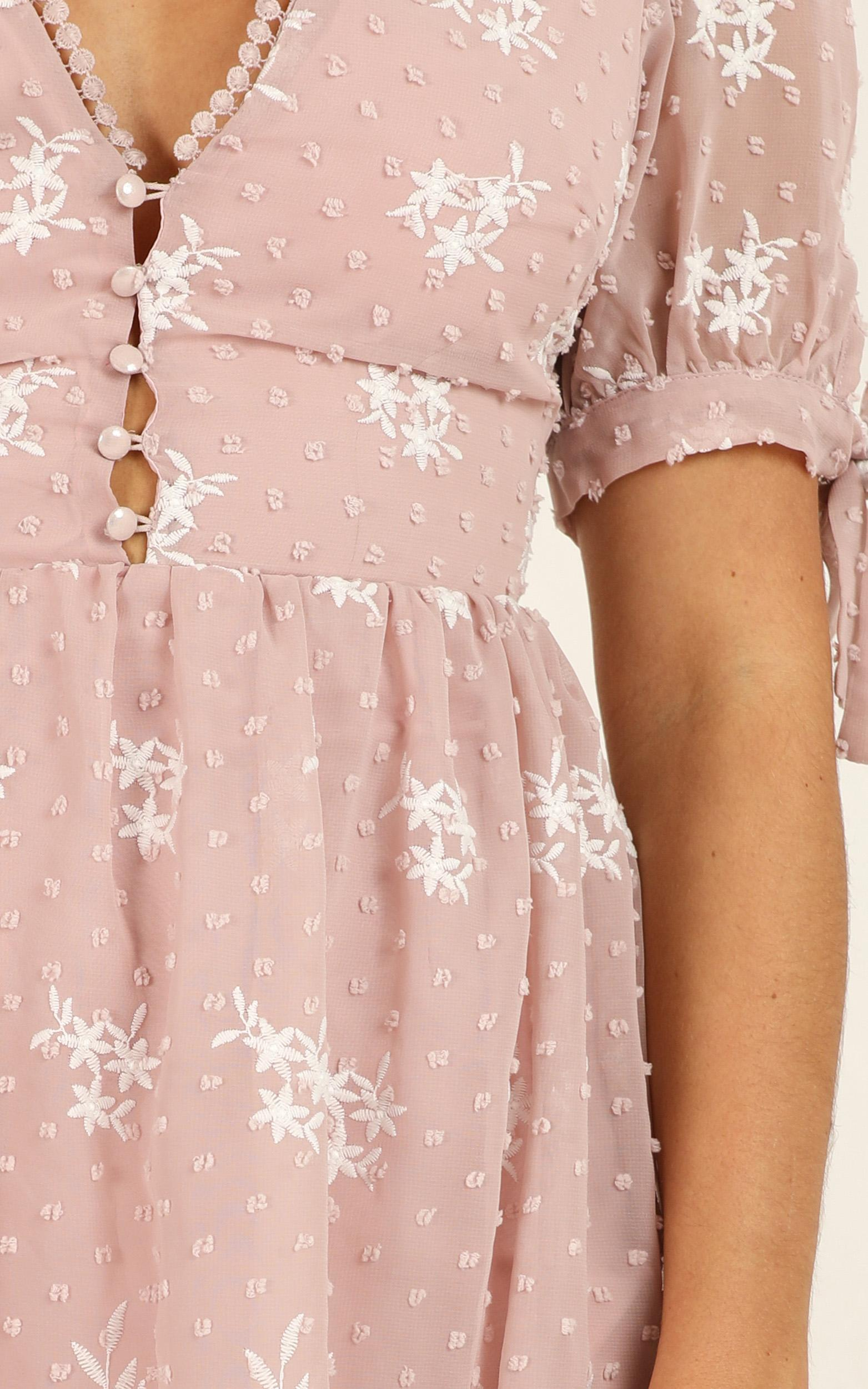 See The World Dress in blush embroidery - 18 (XXXL), Blush, hi-res image number null