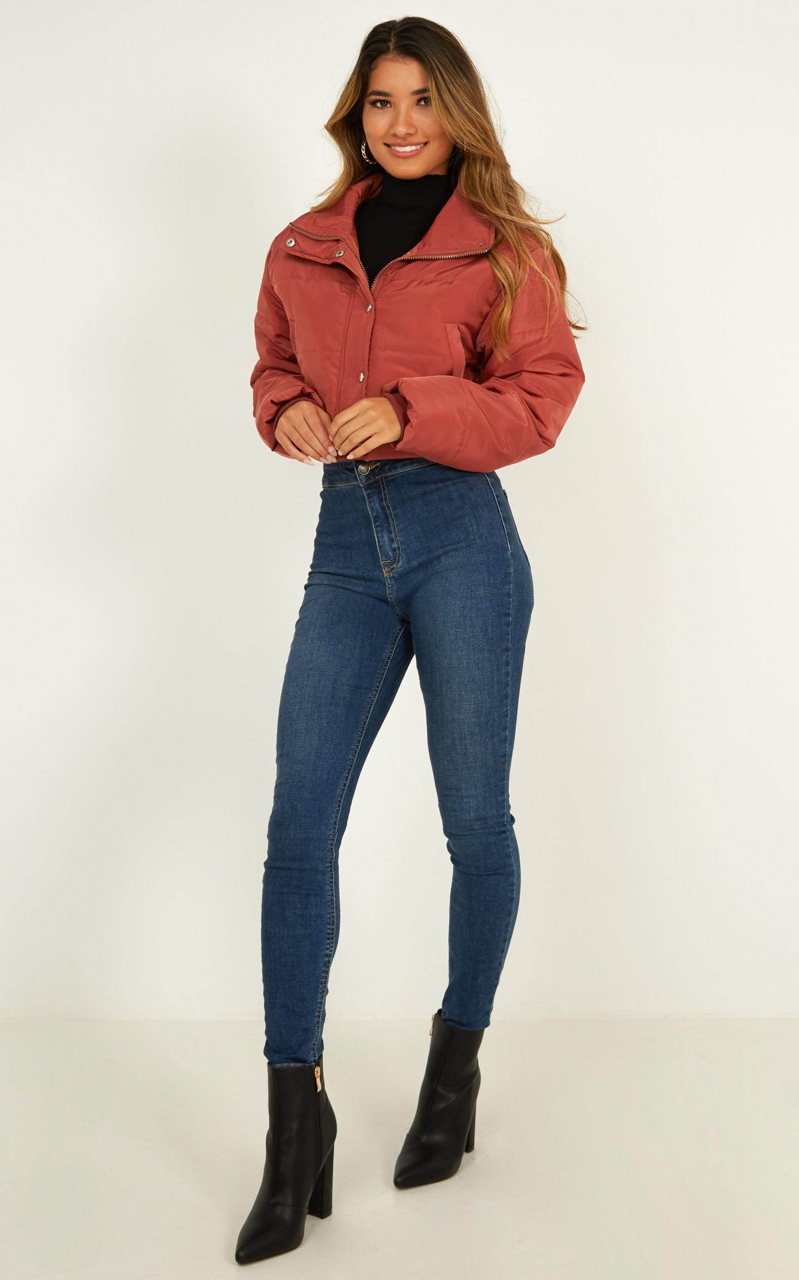More Important puffer Jacket in dusty rose - 20 (XXXXL), Pink, hi-res image number null
