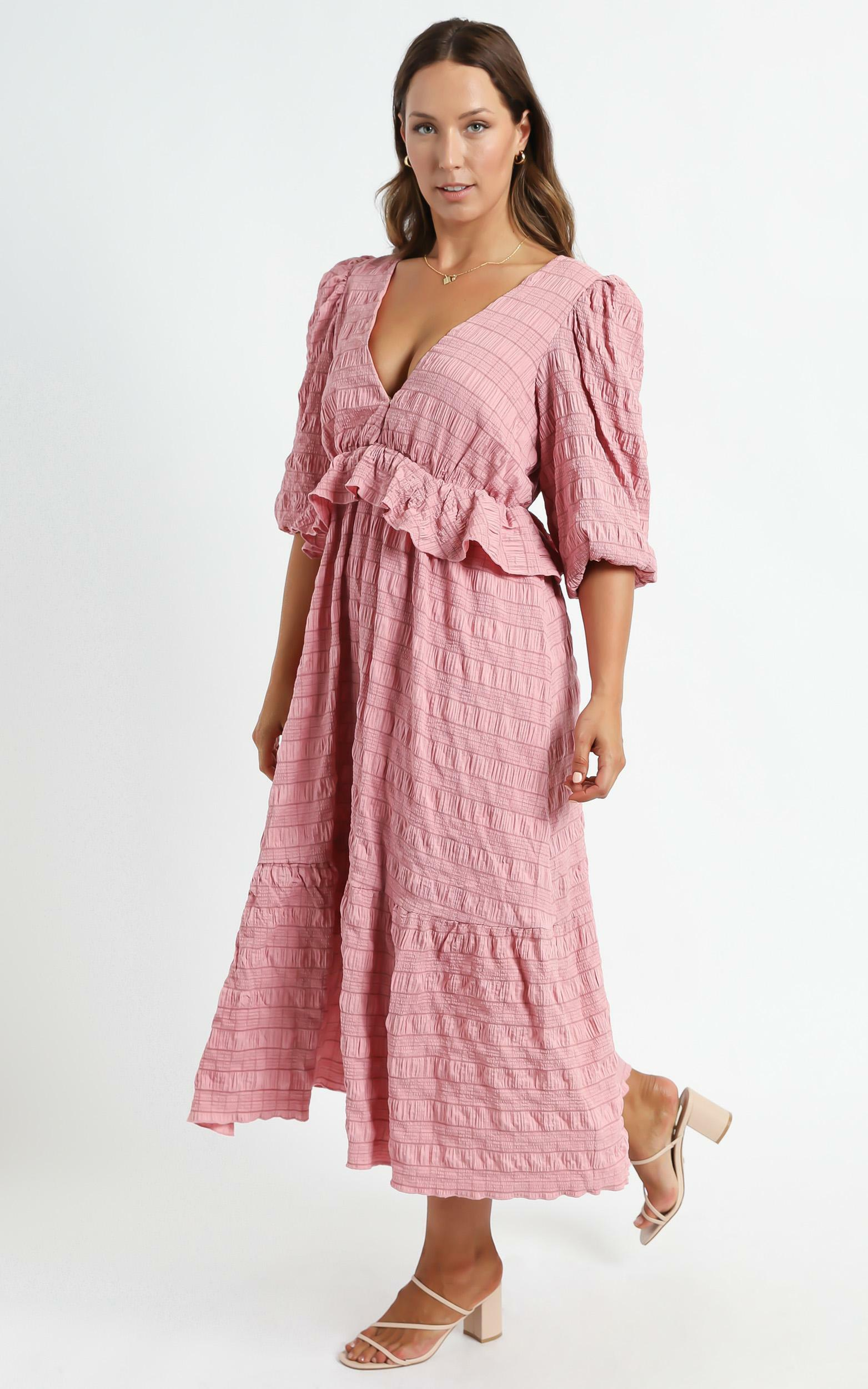 Addilyn Dress in Rose Check - 6 (XS), Pink, hi-res image number null