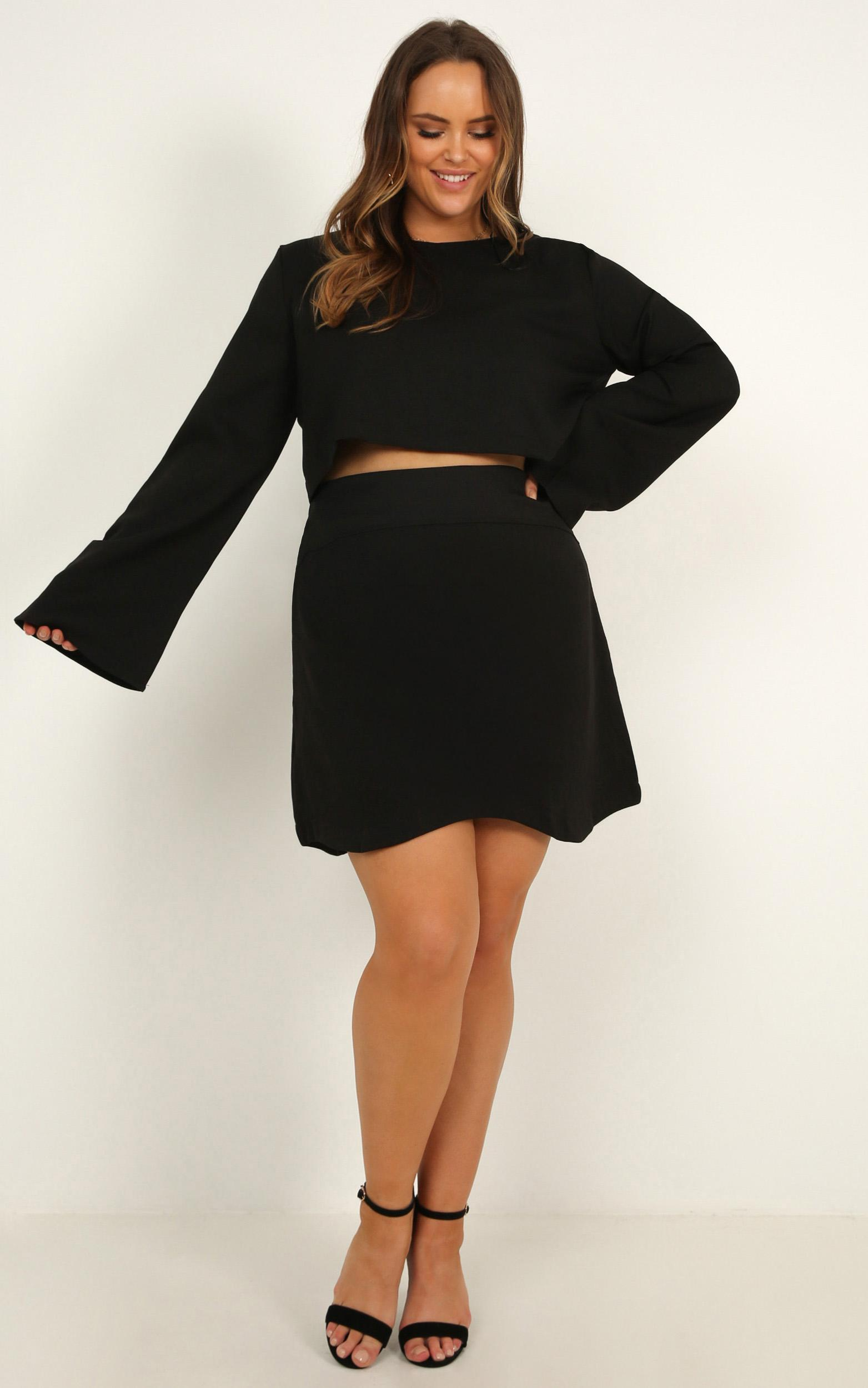 Cut To The Feeling two piece set in black - 20 (XXXXL), Black, hi-res image number null
