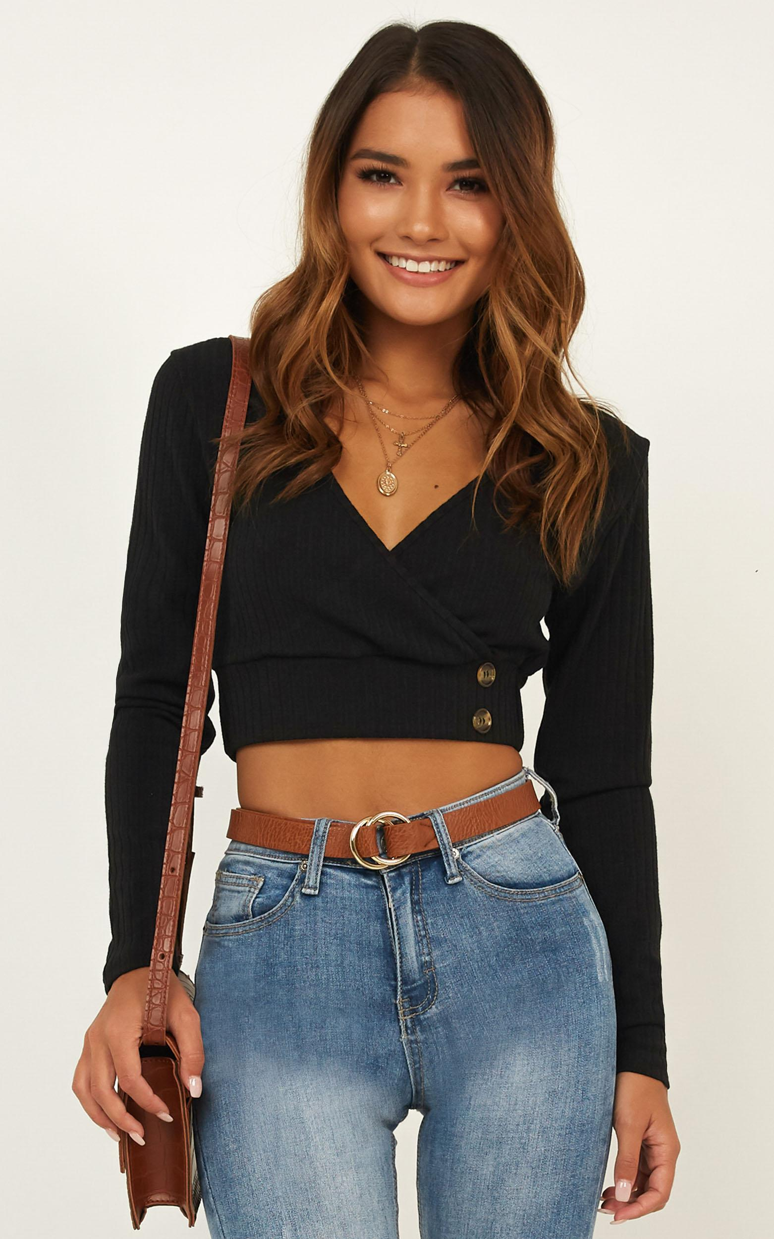 Smile On The Dial Top in black - 18 (XXXL), Black, hi-res image number null