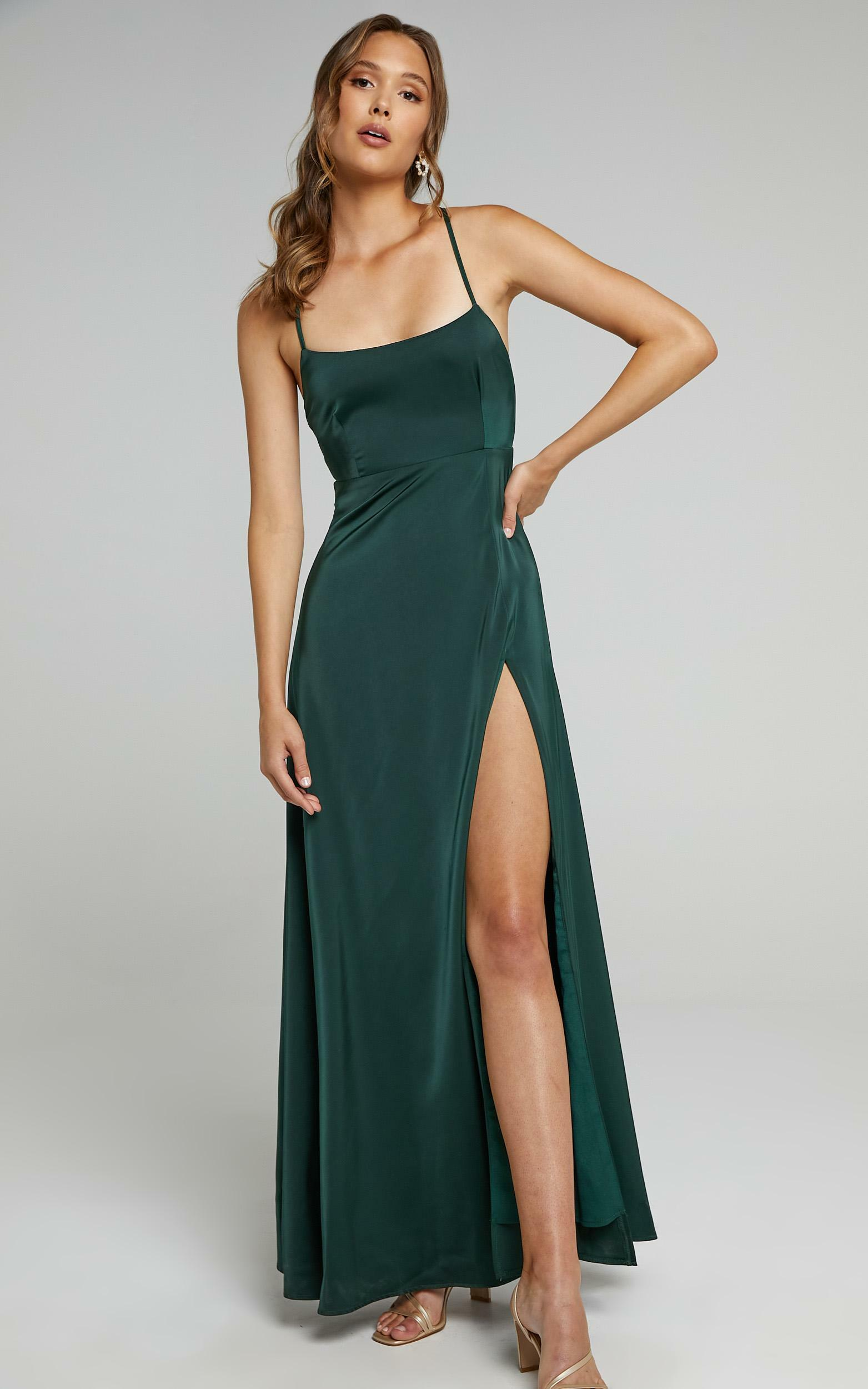 Will It Be Us Dress In Emerald  - 6 (XS), GRN7, hi-res image number null