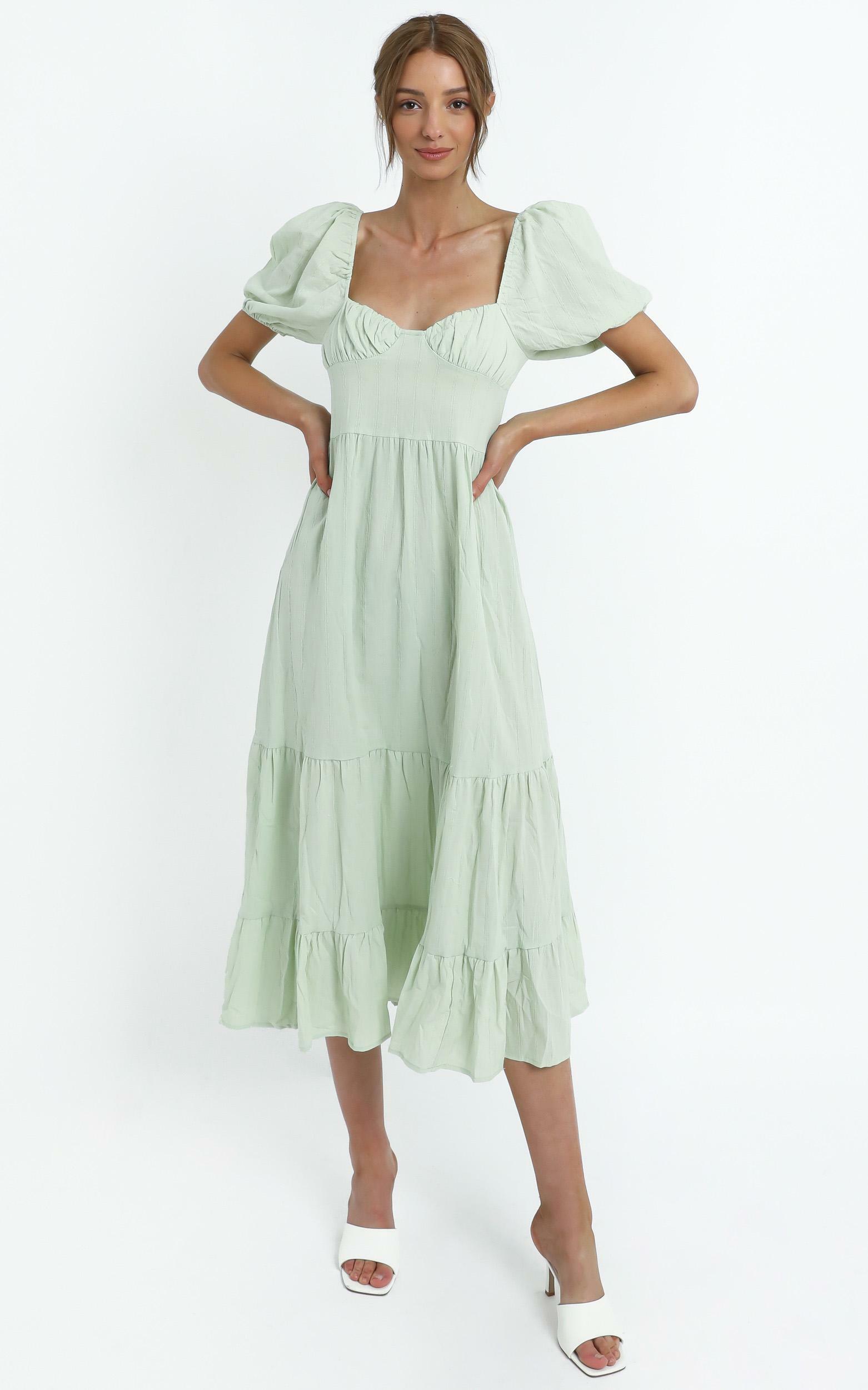 Preston Dress in Sage - 14 (XL), GRN1, hi-res image number null